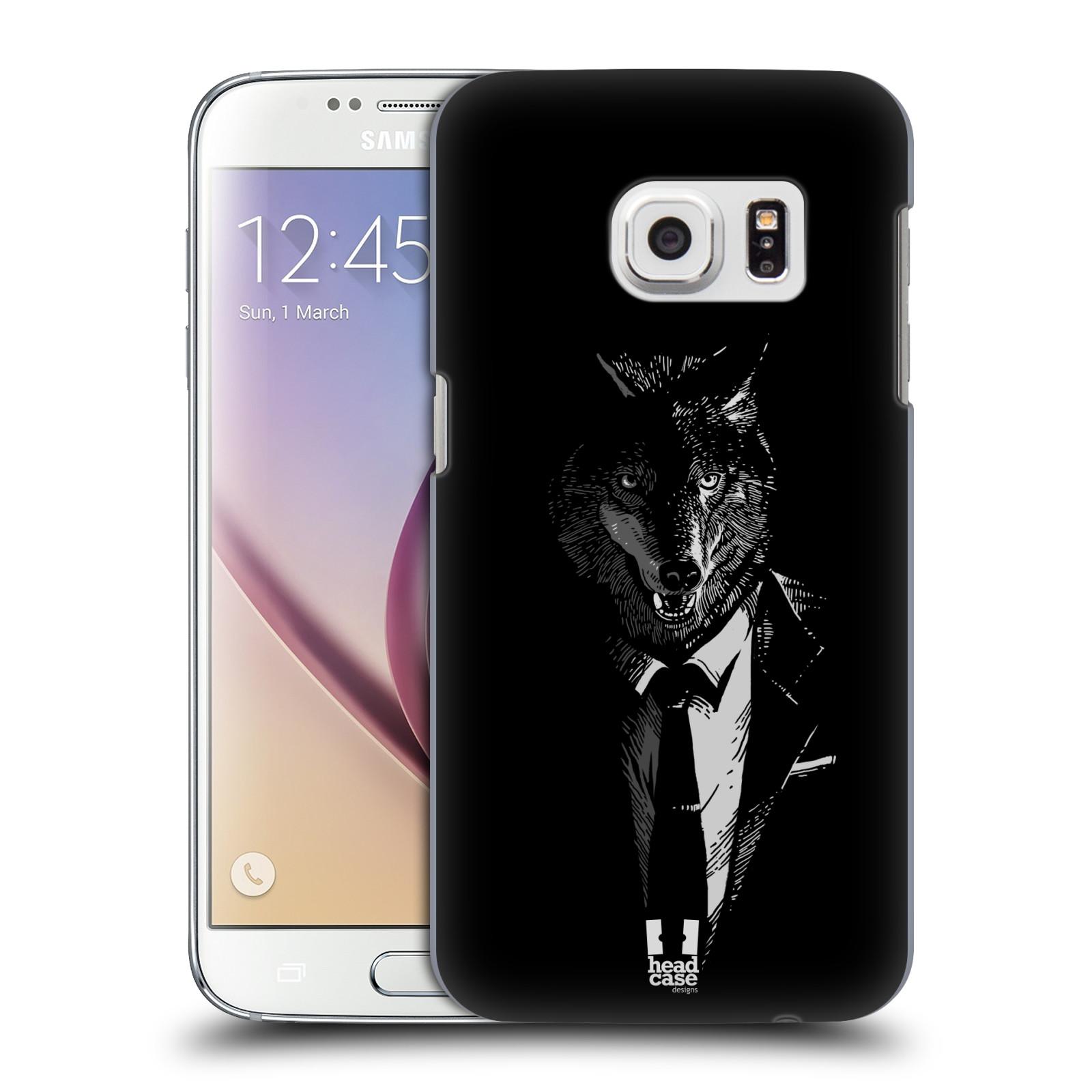 Plastové pouzdro na mobil Samsung Galaxy S7 HEAD CASE VLK V KVÁDRU (Kryt či obal na mobilní telefon Samsung Galaxy S7 SM-G930F)