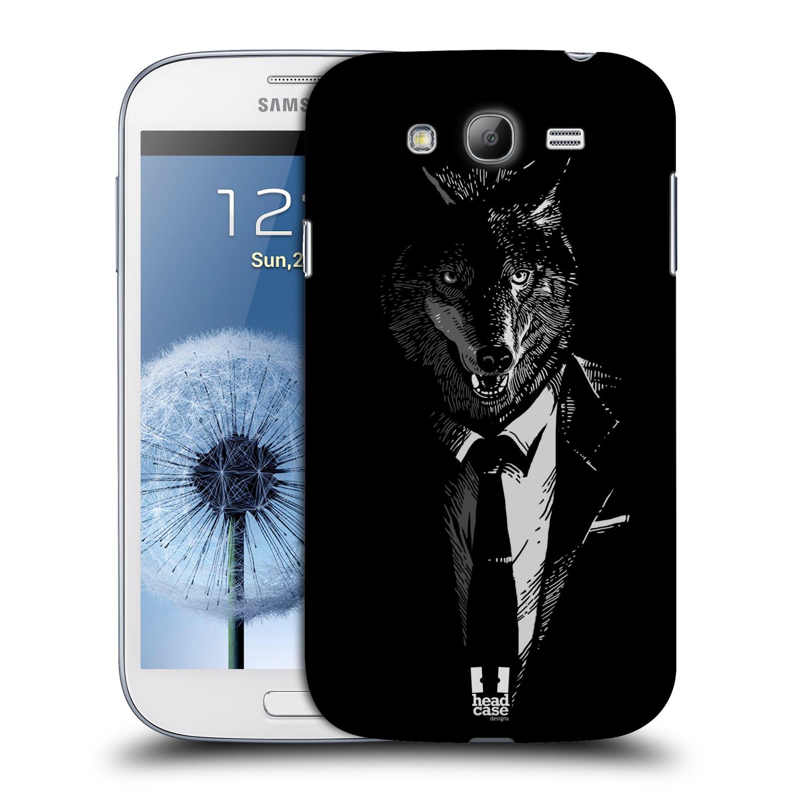 Plastové pouzdro na mobil Samsung Galaxy Grand Neo Plus HEAD CASE VLK V KVÁDRU (Kryt či obal na mobilní telefon Samsung Galaxy Grand Neo Plus GT-i9060i)