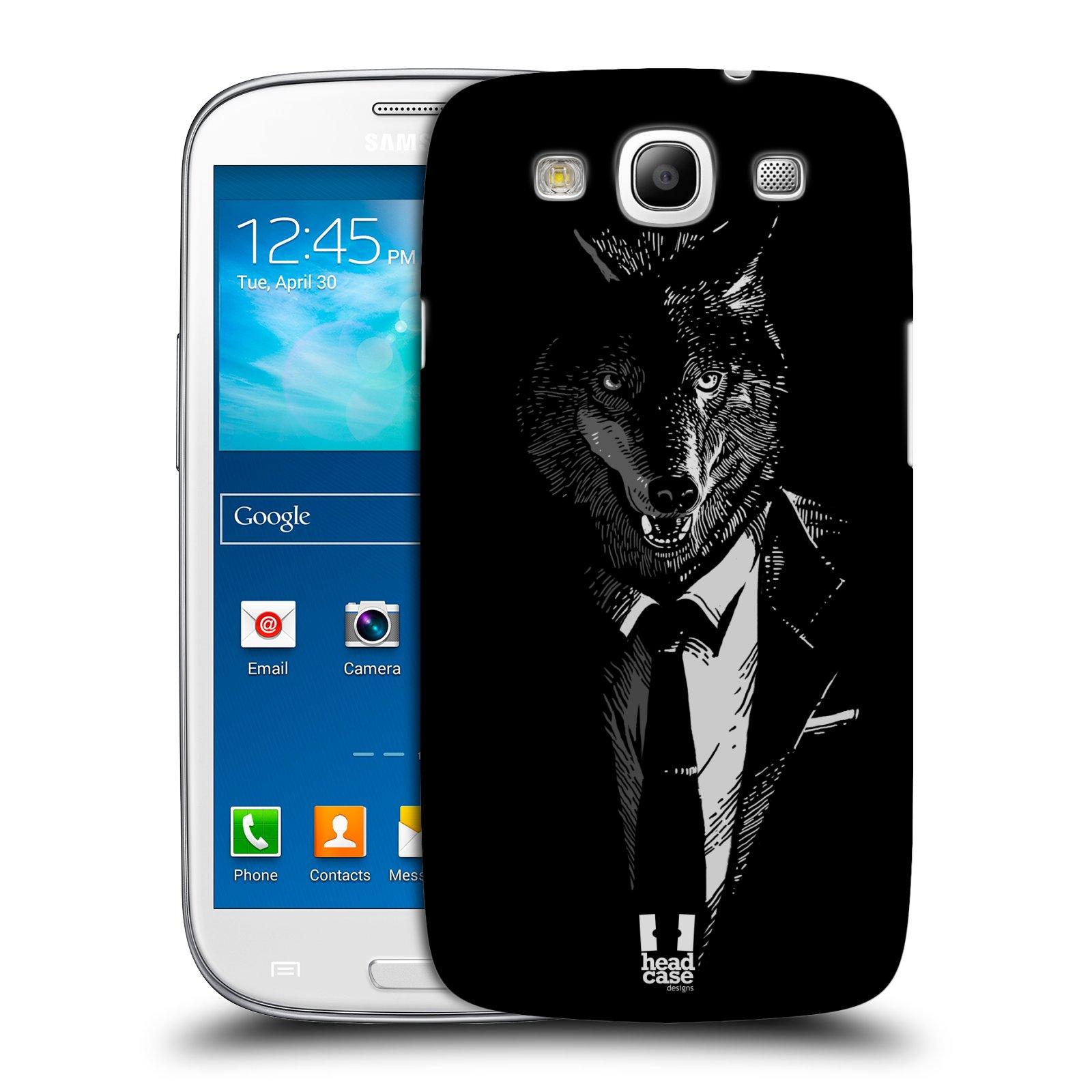 Plastové pouzdro na mobil Samsung Galaxy S3 Neo HEAD CASE VLK V KVÁDRU