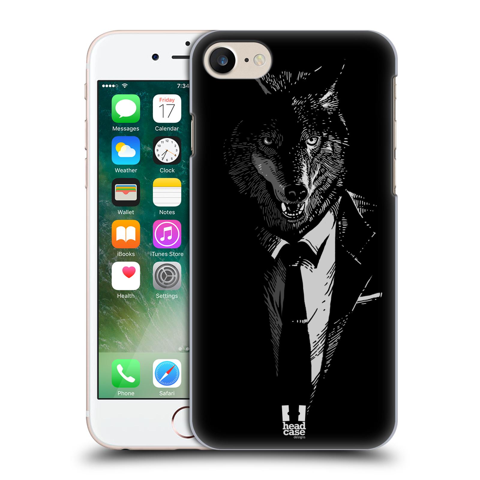 Plastové pouzdro na mobil Apple iPhone 7 HEAD CASE VLK V KVÁDRU