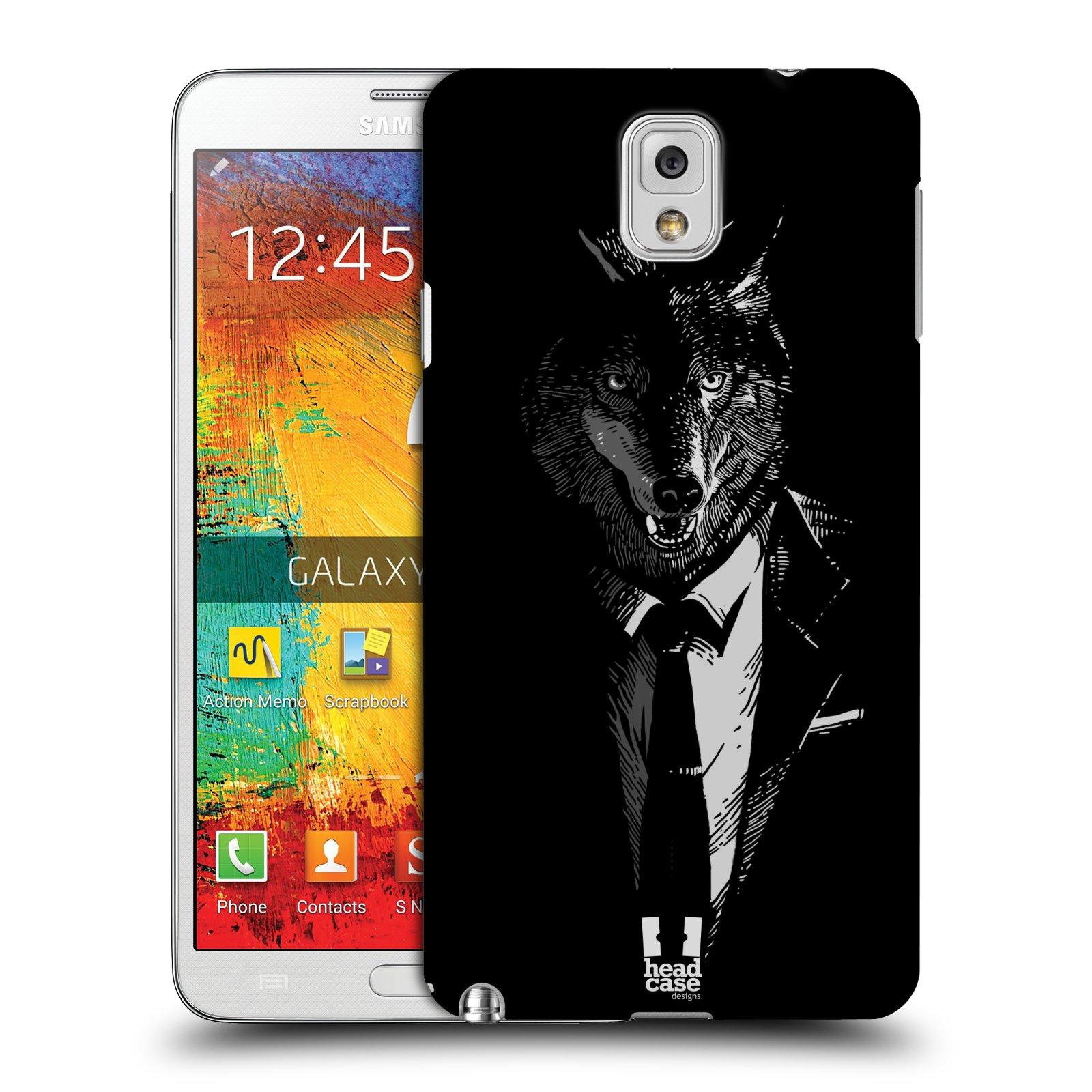 Plastové pouzdro na mobil Samsung Galaxy Note 3 HEAD CASE VLK V KVÁDRU (Kryt či obal na mobilní telefon Samsung Galaxy Note 3 SM-N9005)