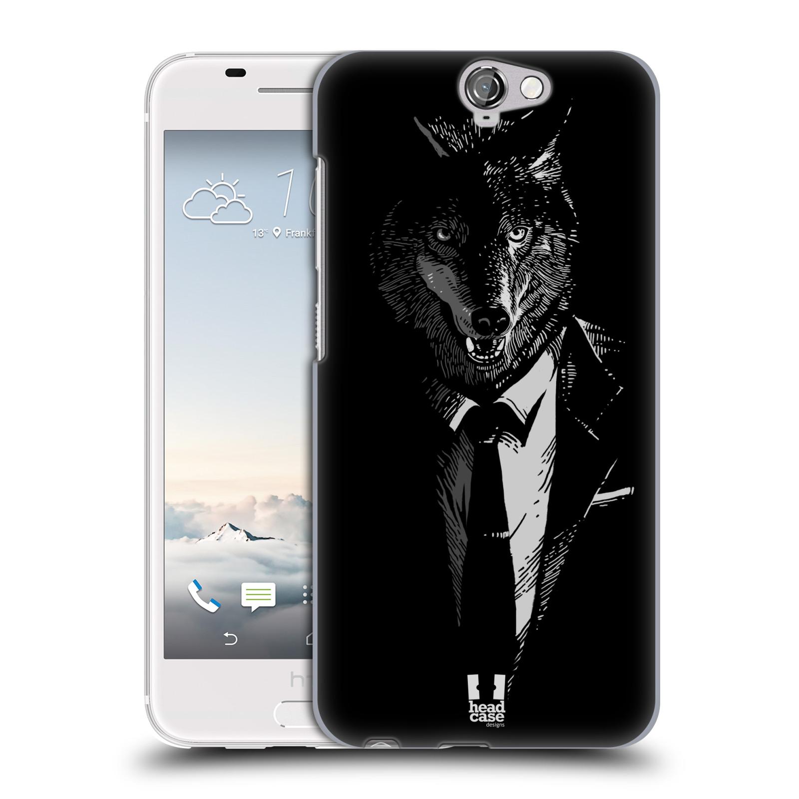 Plastové pouzdro na mobil HTC One A9 HEAD CASE VLK V KVÁDRU