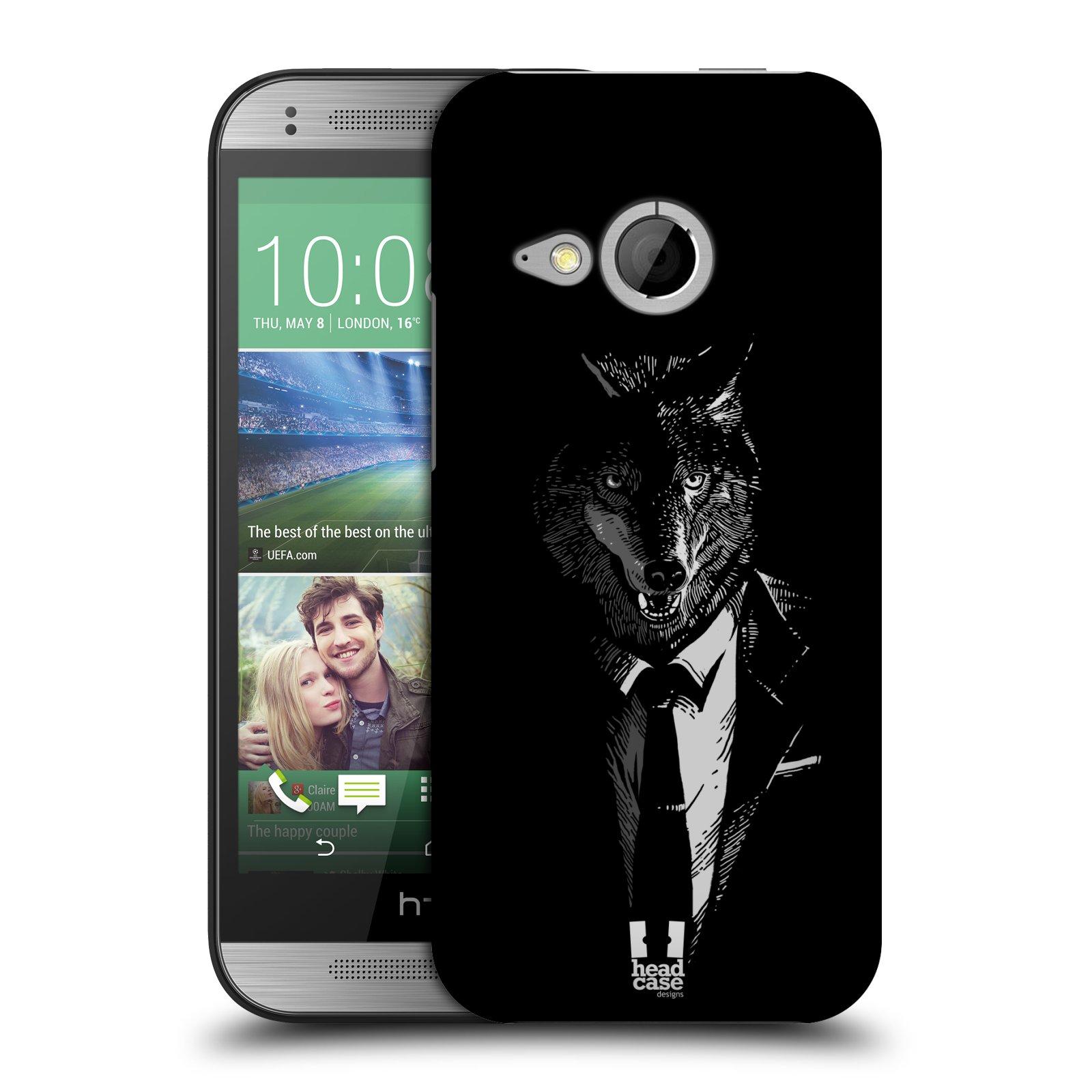 Plastové pouzdro na mobil HTC ONE Mini 2 HEAD CASE VLK V KVÁDRU (Kryt či obal na mobilní telefon HTC ONE Mini 2)