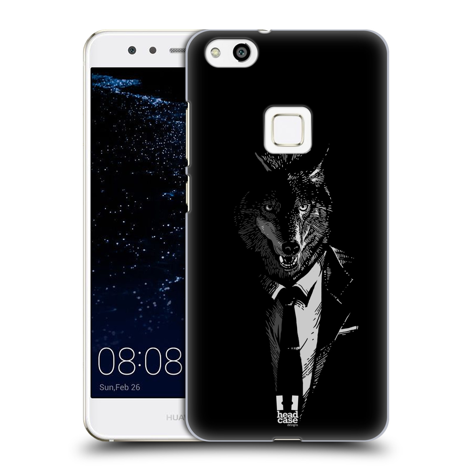 Plastové pouzdro na mobil Huawei P10 Lite Head Case - VLK V KVÁDRU (Plastový kryt či obal na mobilní telefon Huawei P10 Lite Dual SIM (LX1/LX1A))