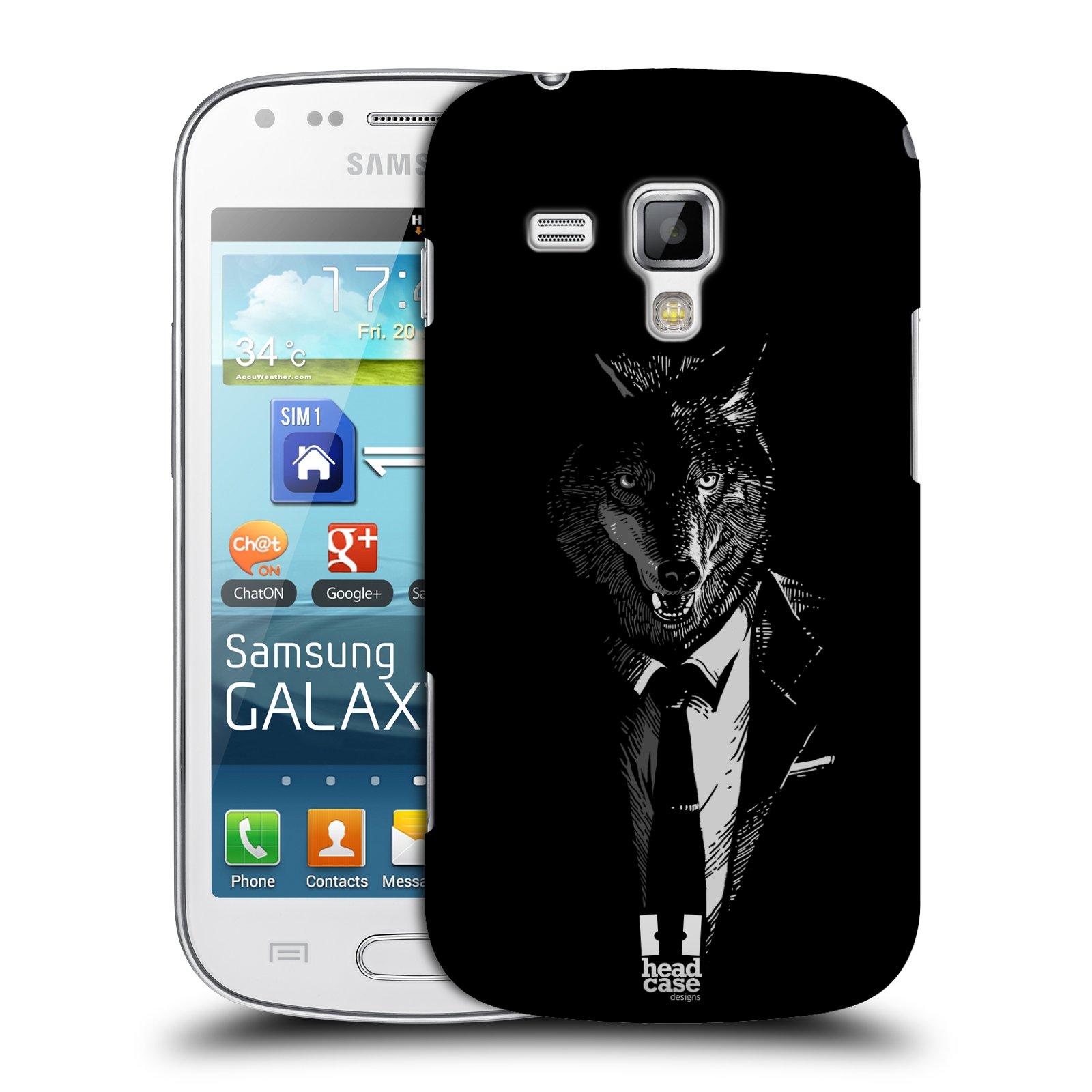Plastové pouzdro na mobil Samsung Galaxy Trend HEAD CASE VLK V KVÁDRU (Kryt či obal na mobilní telefon Samsung Galaxy Trend GT-S7560)