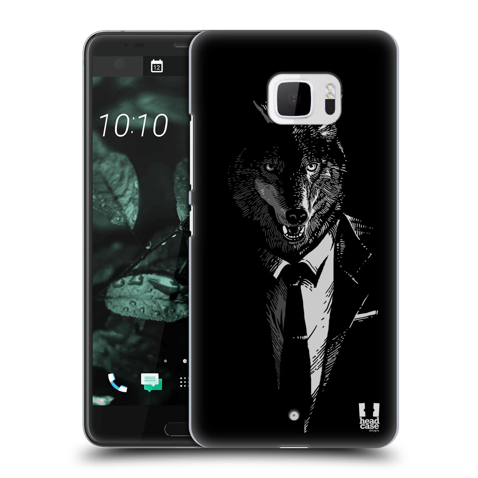 Plastové pouzdro na mobil HTC U Ultra Head Case - VLK V KVÁDRU (Plastový kryt či obal na mobilní telefon HTC U Ultra (99HALT015-00))
