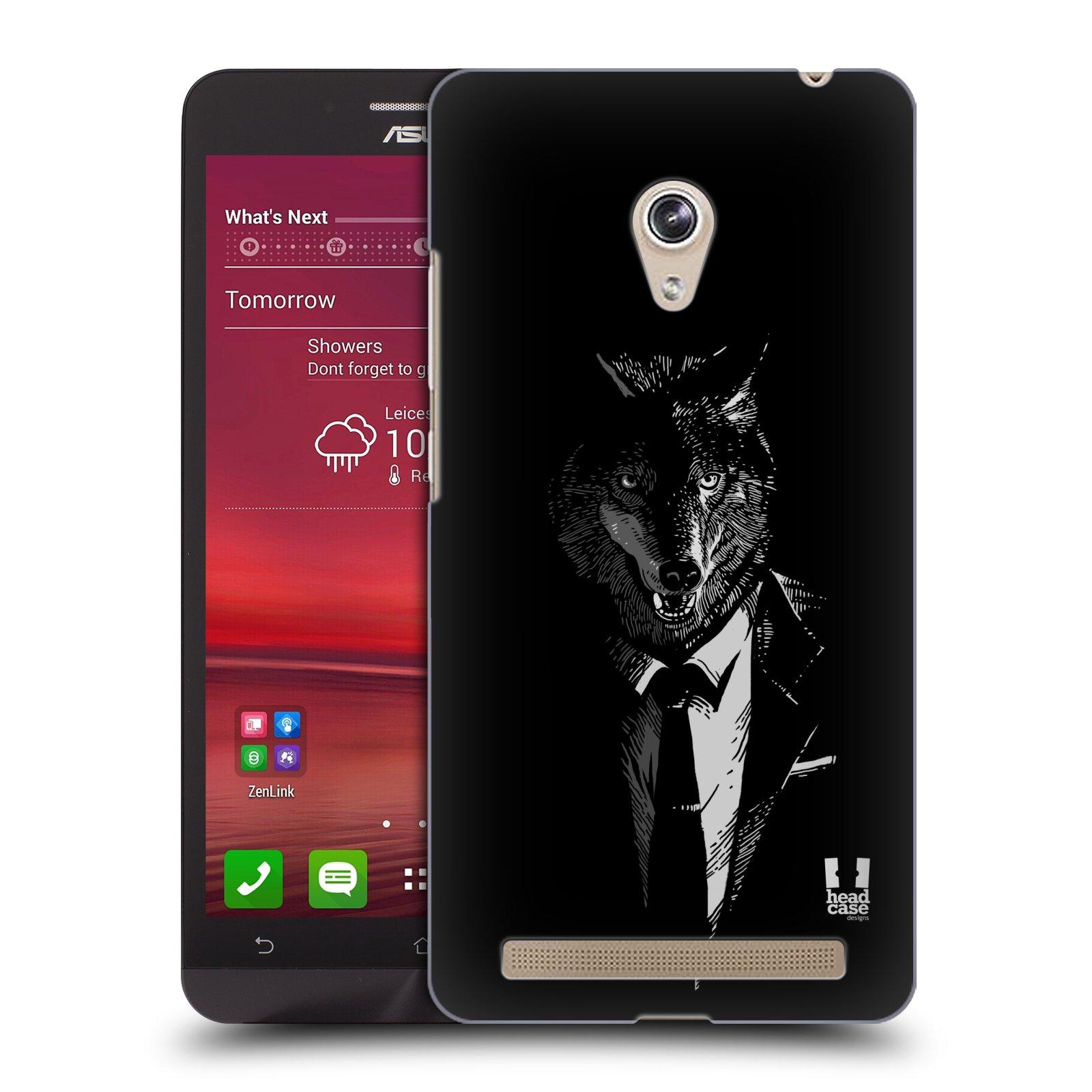 Plastové pouzdro na mobil Asus Zenfone 6 HEAD CASE VLK V KVÁDRU (Kryt či obal na mobilní telefon Asus Zenfone 6 A600CG / A601CG)