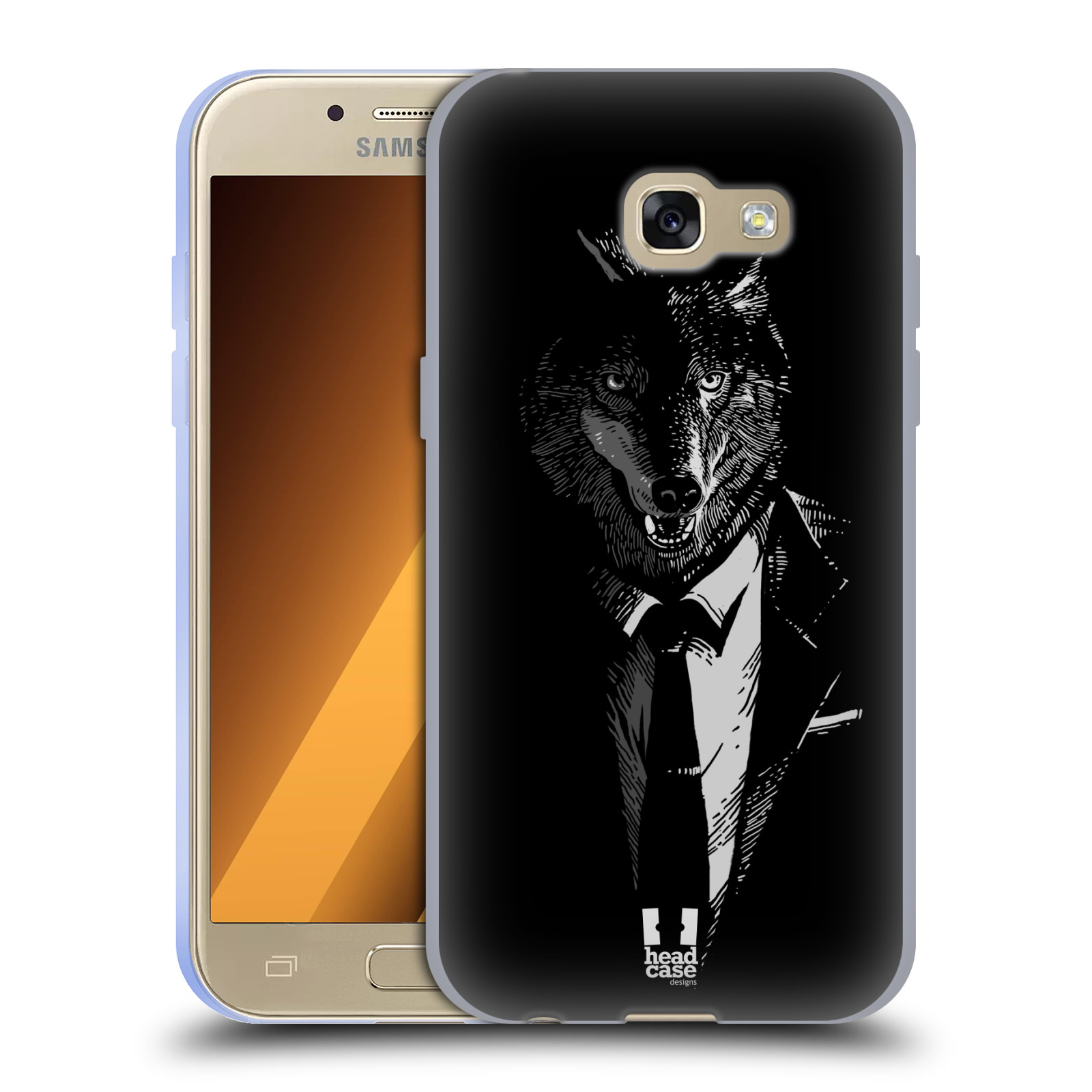 Silikonové pouzdro na mobil Samsung Galaxy A3 (2017) HEAD CASE VLK V KVÁDRU