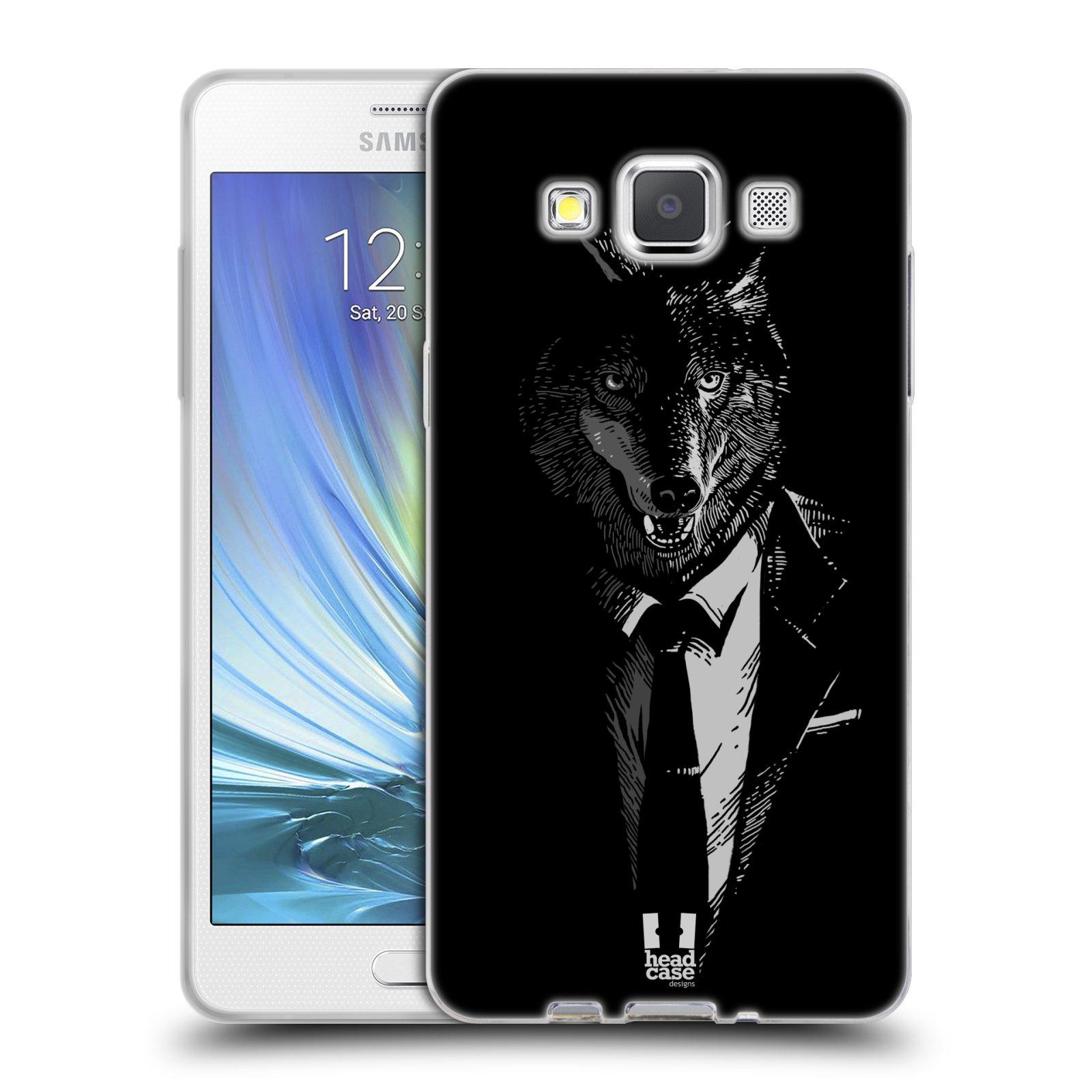 Silikonové pouzdro na mobil Samsung Galaxy A5 HEAD CASE VLK V KVÁDRU