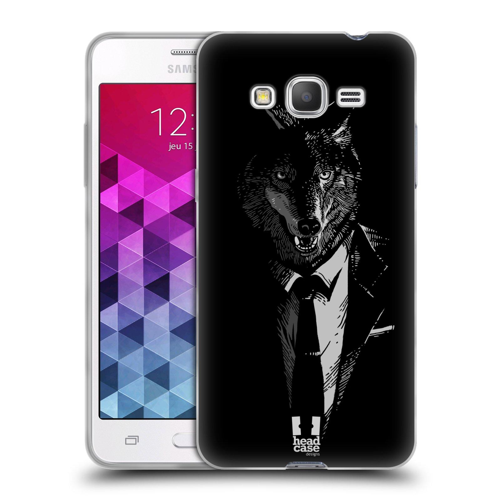 Silikonové pouzdro na mobil Samsung Galaxy Grand Prime HEAD CASE VLK V KVÁDRU