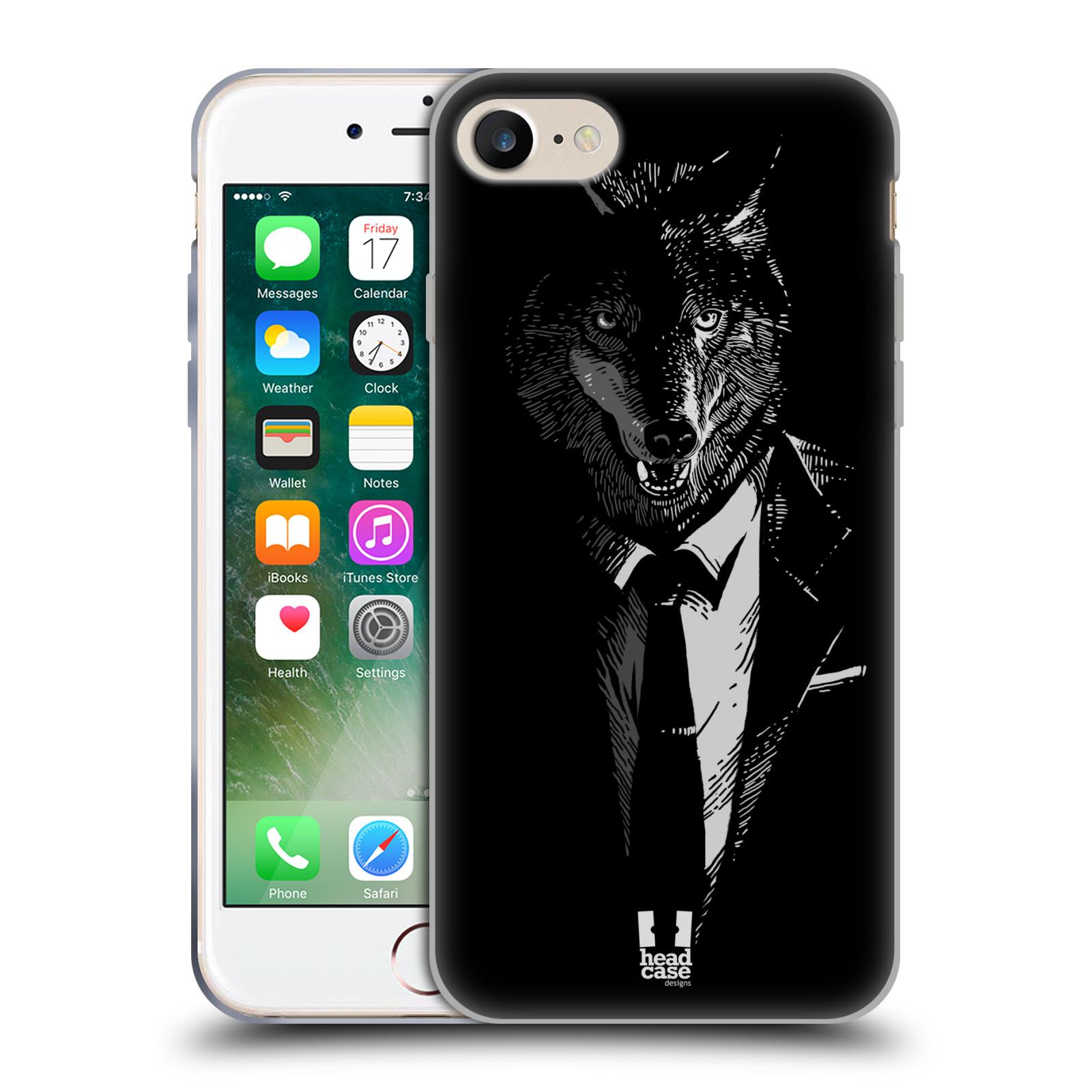 Silikonové pouzdro na mobil Apple iPhone 8 - Head Case - VLK V KVÁDRU (Silikonový kryt či obal na mobilní telefon Apple iPhone 8 s motivem VLK V KVÁDRU)