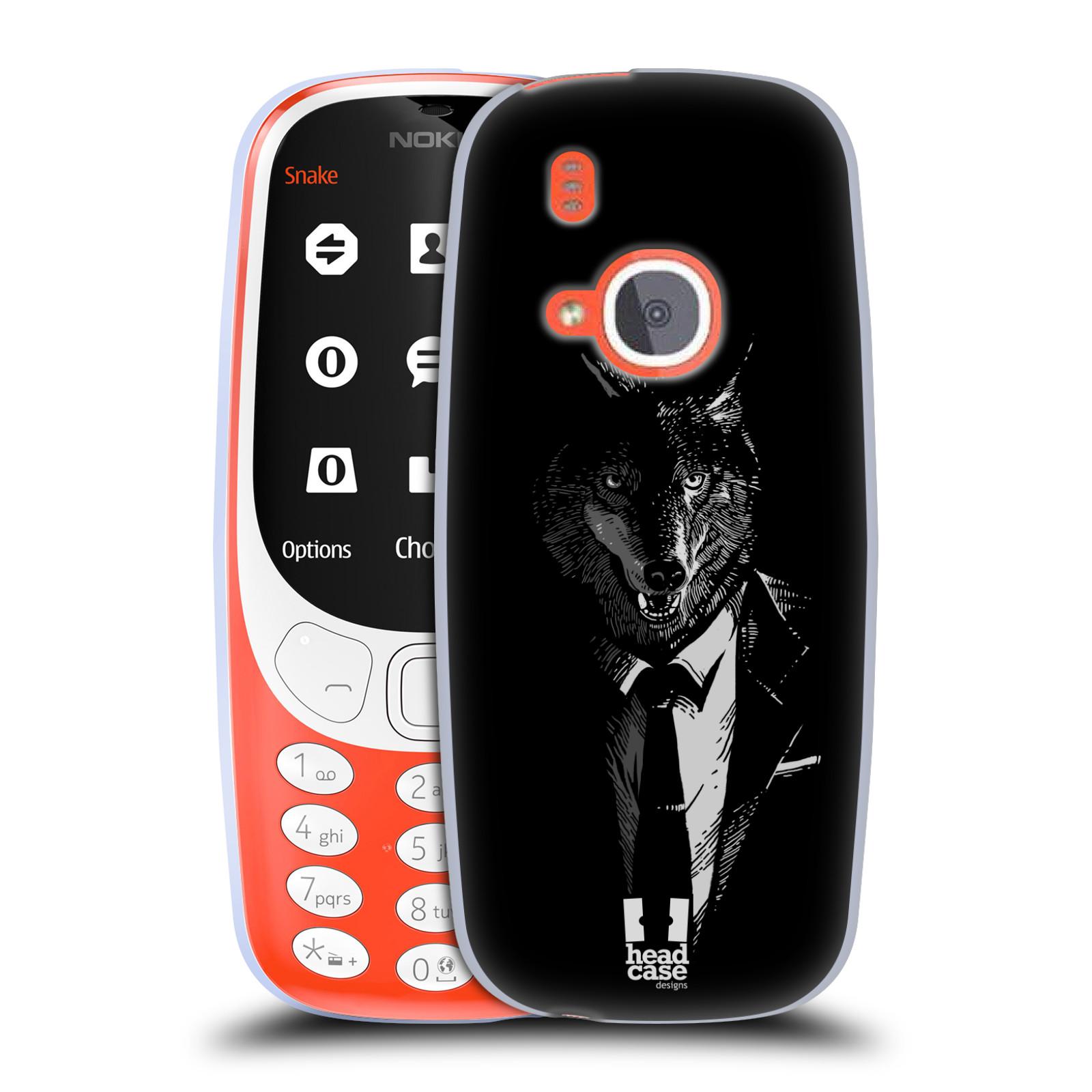 Silikonové pouzdro na mobil Nokia 3310 - Head Case - VLK V KVÁDRU (Silikonový kryt či obal na mobilní telefon Nokia 3310 (2017) s motivem VLK V KVÁDRU)