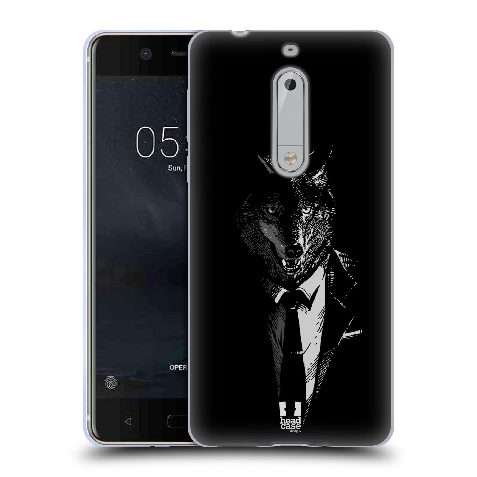 Silikonové pouzdro na mobil Nokia 5 Head Case - VLK V KVÁDRU