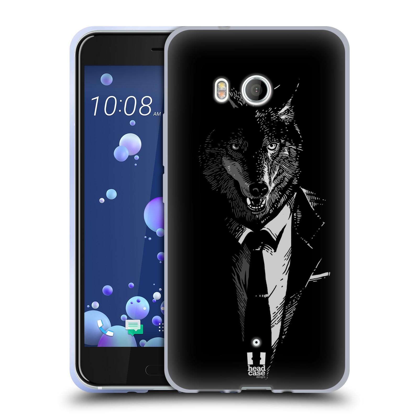 Silikonové pouzdro na mobil HTC U11 - Head Case - VLK V KVÁDRU (Silikonový kryt či obal na mobilní telefon HTC U11 s motivem VLK V KVÁDRU)