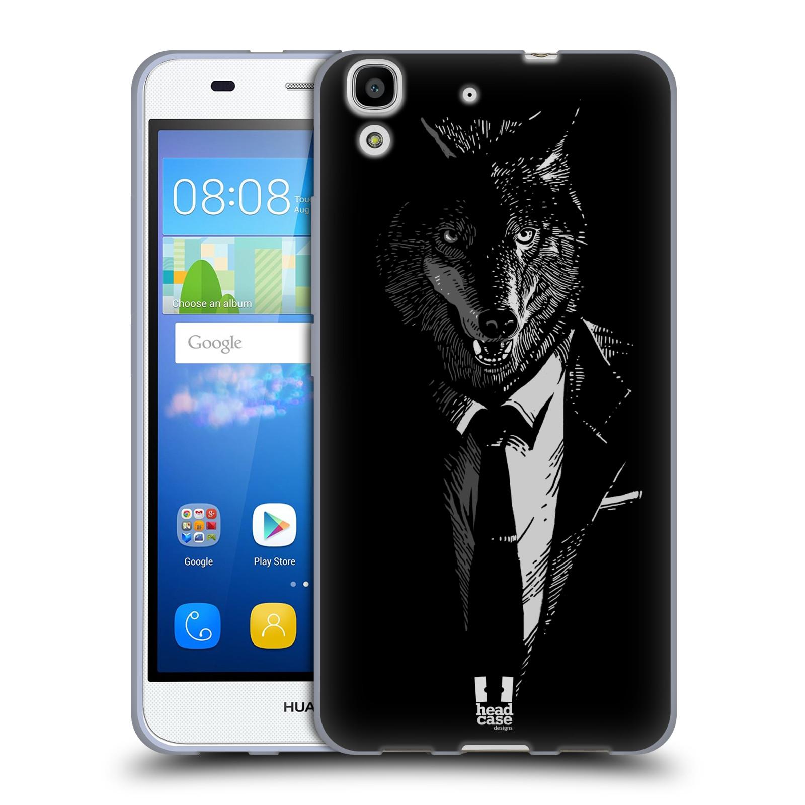 Silikonové pouzdro na mobil Huawei Y6 HEAD CASE VLK V KVÁDRU