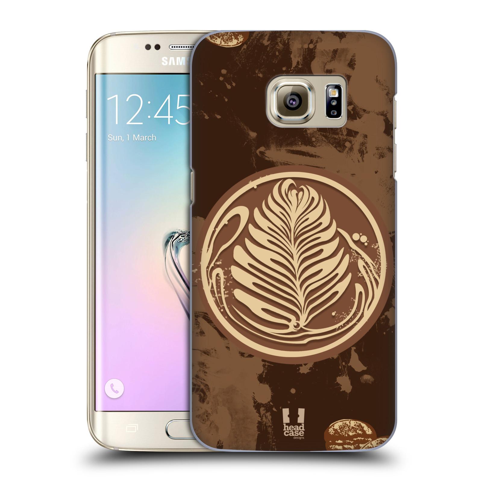 Plastové pouzdro na mobil Samsung Galaxy S7 Edge HEAD CASE Coffee Art (Kryt či obal na mobilní telefon Samsung Galaxy S7 Edge SM-G935F)