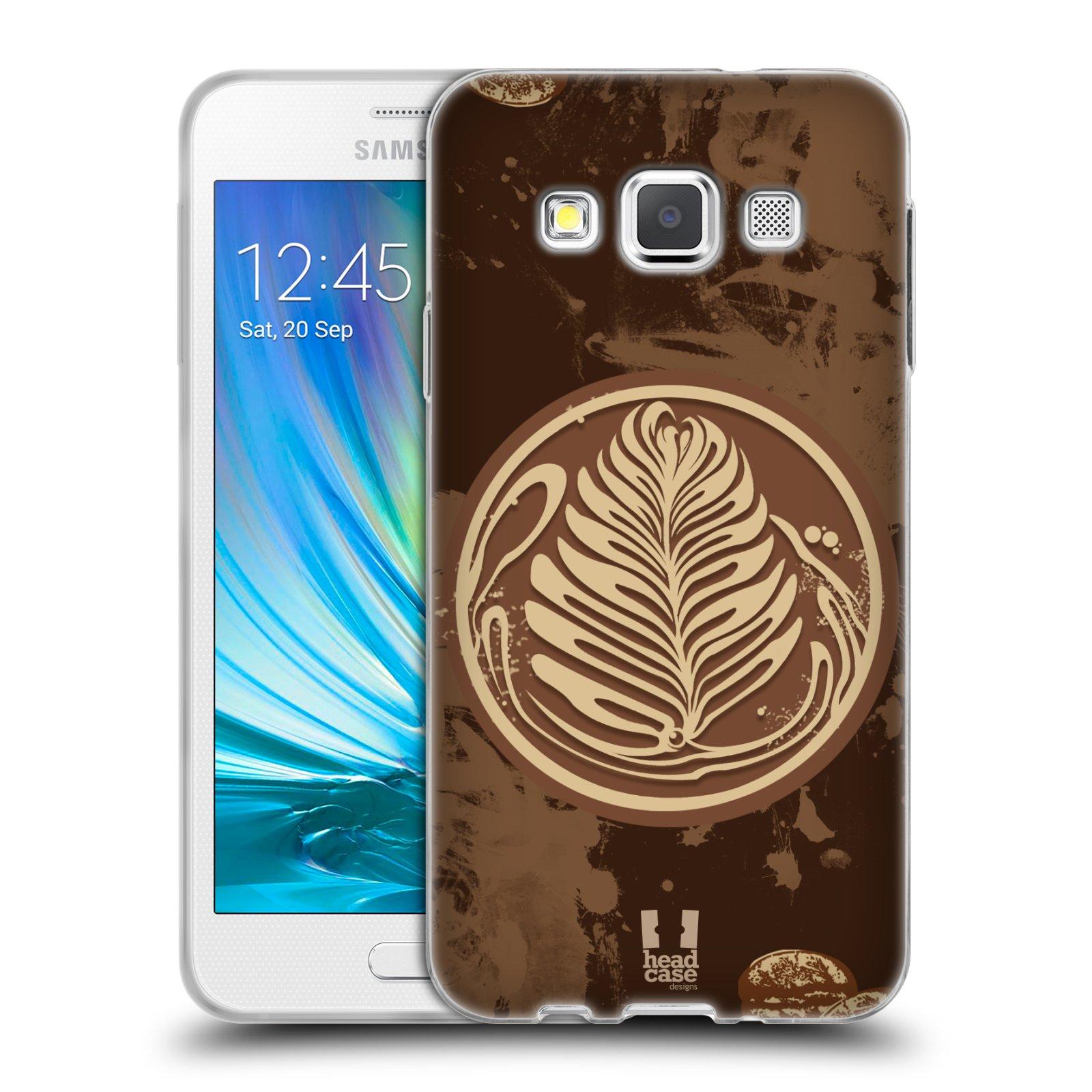 Silikonové pouzdro na mobil Samsung Galaxy A3 HEAD CASE Coffee Art