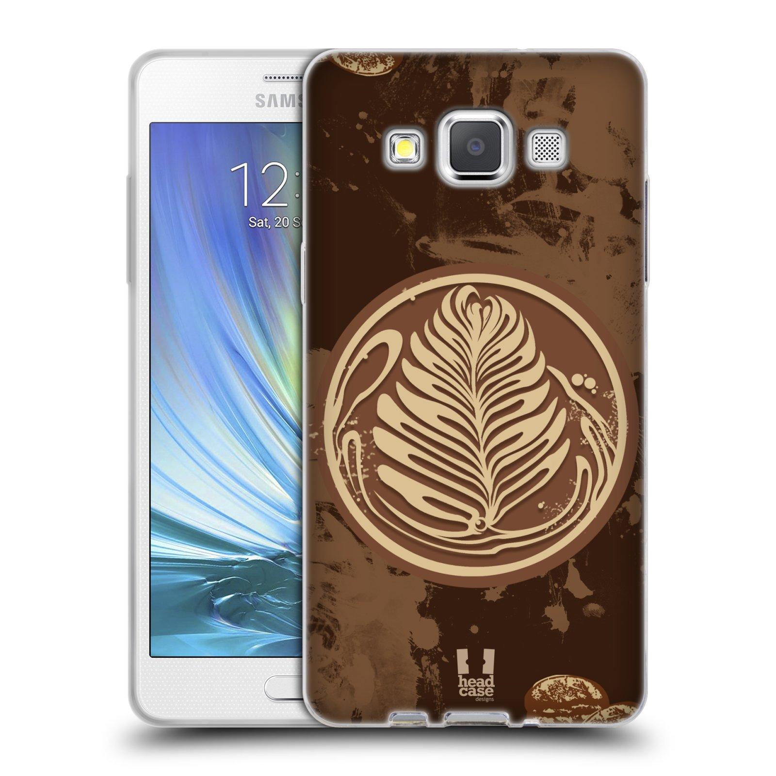 Silikonové pouzdro na mobil Samsung Galaxy A5 HEAD CASE Coffee Art