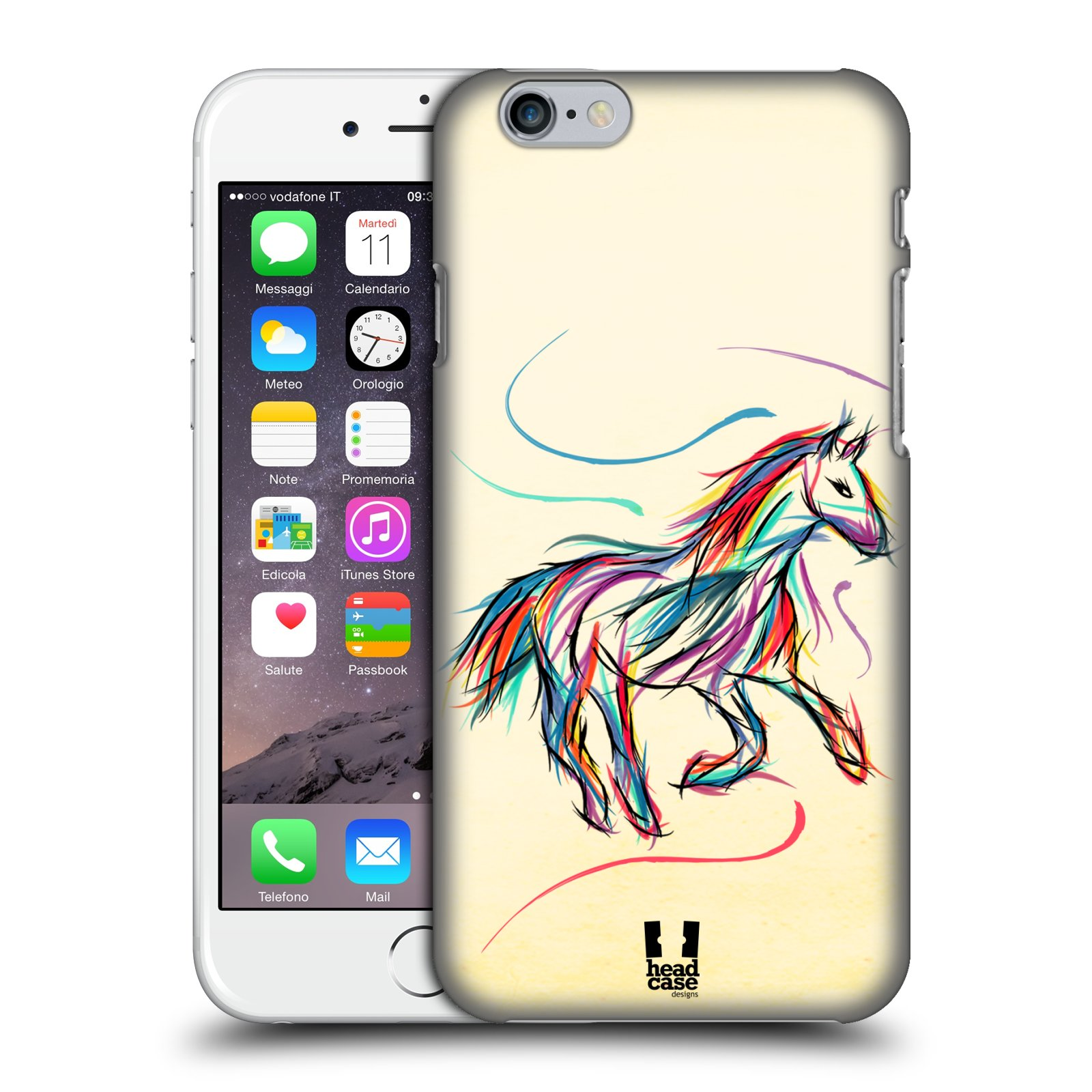 Plastové pouzdro na mobil Apple iPhone 6 a 6S HEAD CASE KONÍK BAREVNÝ