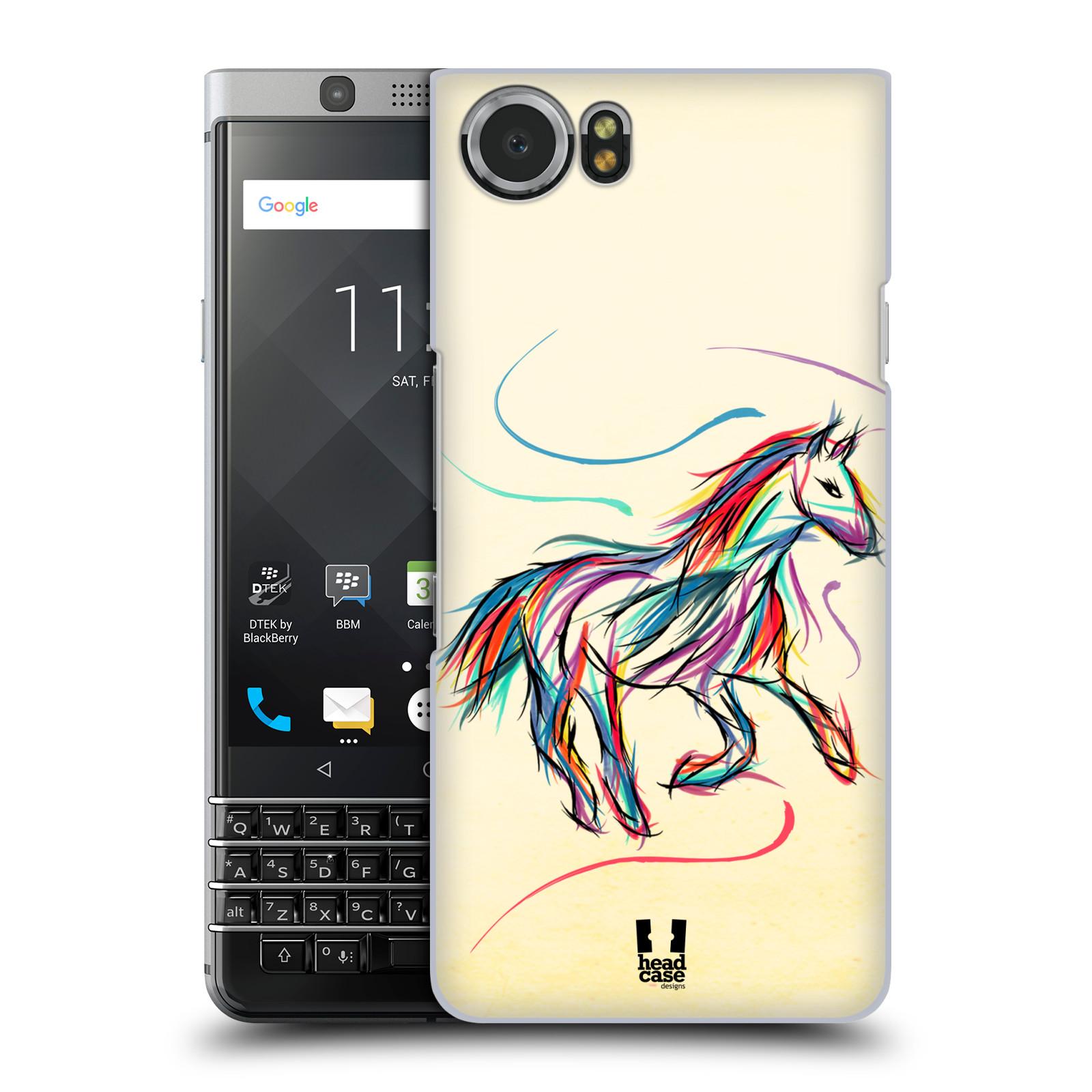 Plastové pouzdro na mobil BlackBerry KEYone - Head Case - KONÍK BAREVNÝ