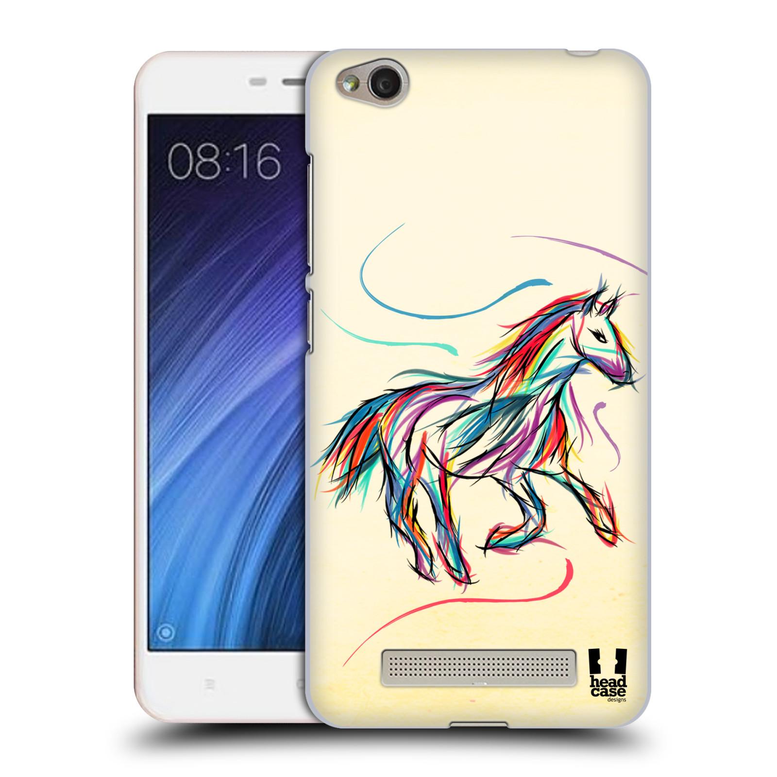 Plastové pouzdro na mobil Xiaomi Redmi 4A HEAD CASE KONÍK BAREVNÝ