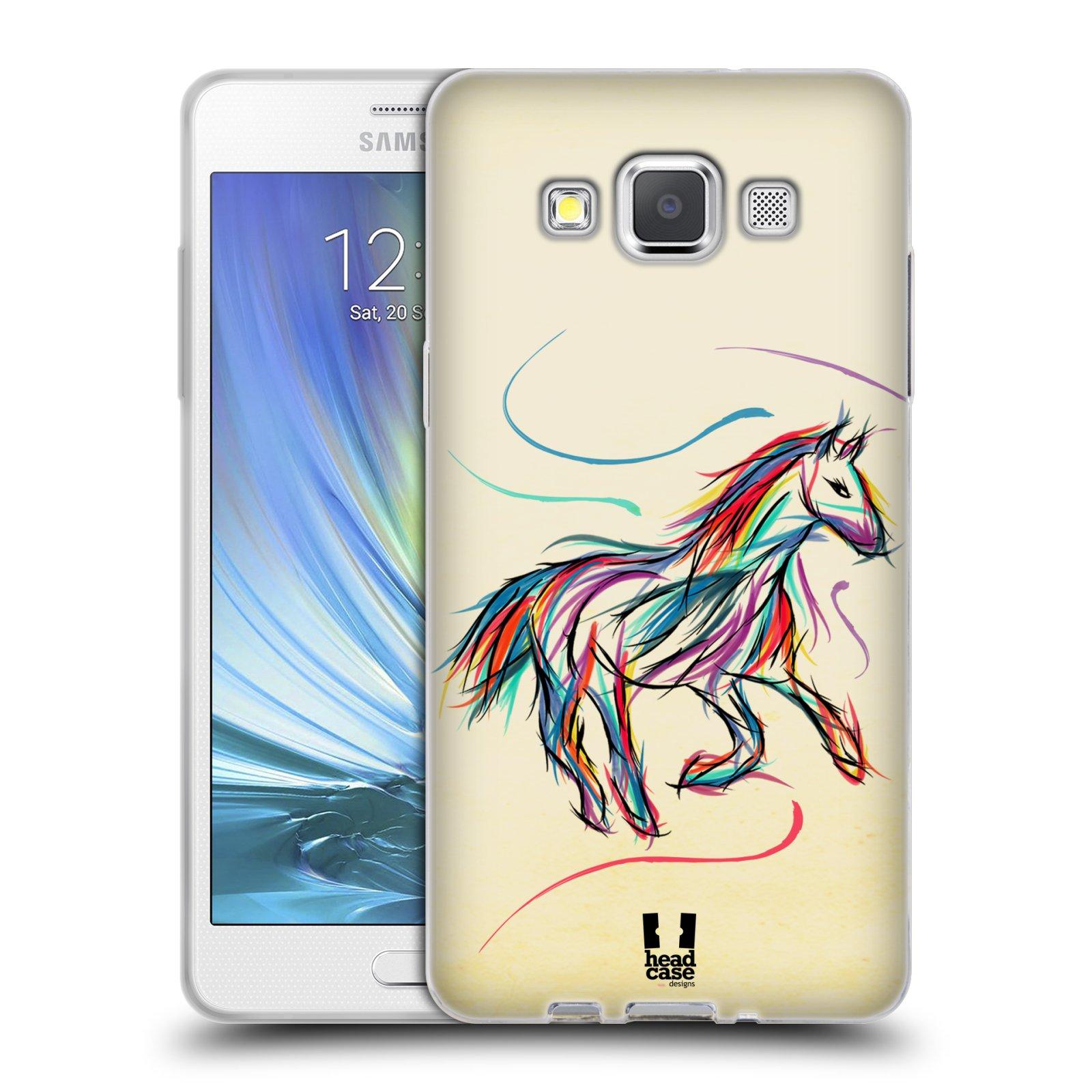 Silikonové pouzdro na mobil Samsung Galaxy A5 HEAD CASE KONÍK BAREVNÝ