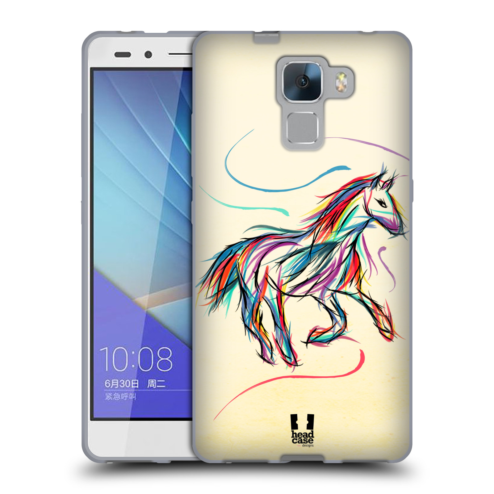 Silikonové pouzdro na mobil Honor 7 HEAD CASE KONÍK BAREVNÝ (Silikonový kryt  či obal na 23100e23b19