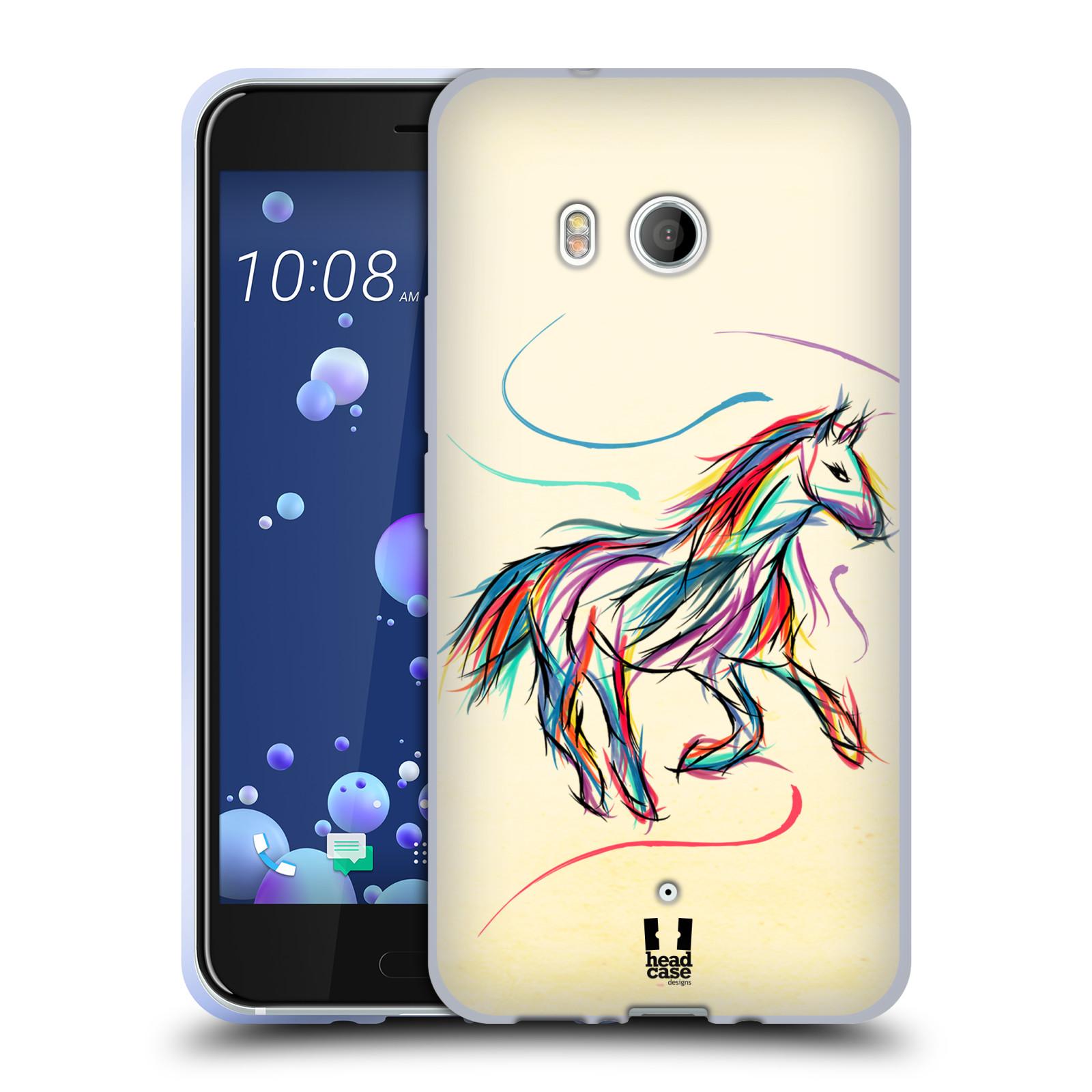 Silikonové pouzdro na mobil HTC U11 - Head Case - KONÍK BAREVNÝ