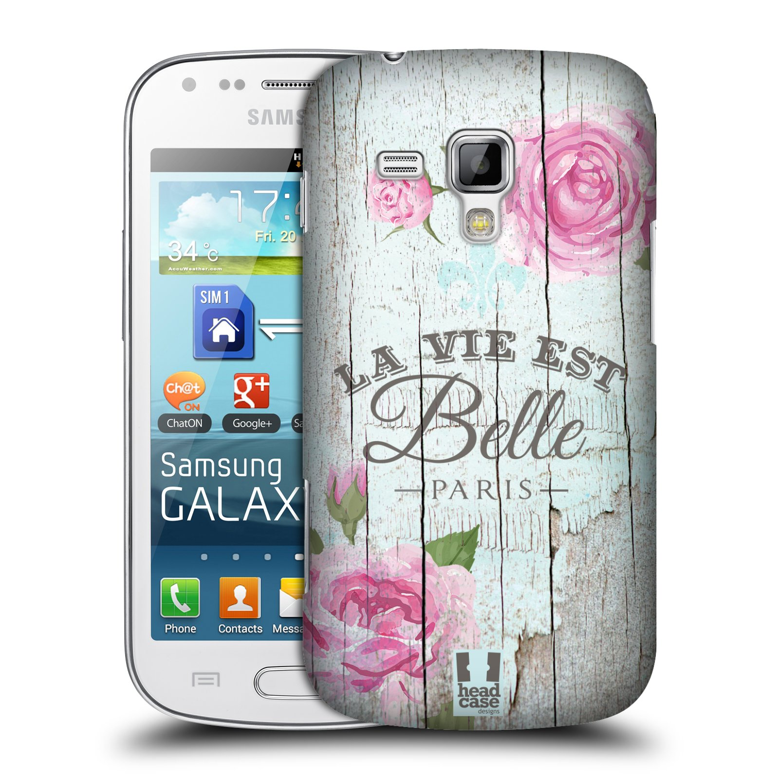 Plastové pouzdro na mobil Samsung Galaxy Trend HEAD CASE LIFE IN THE COUNTRY BELLE