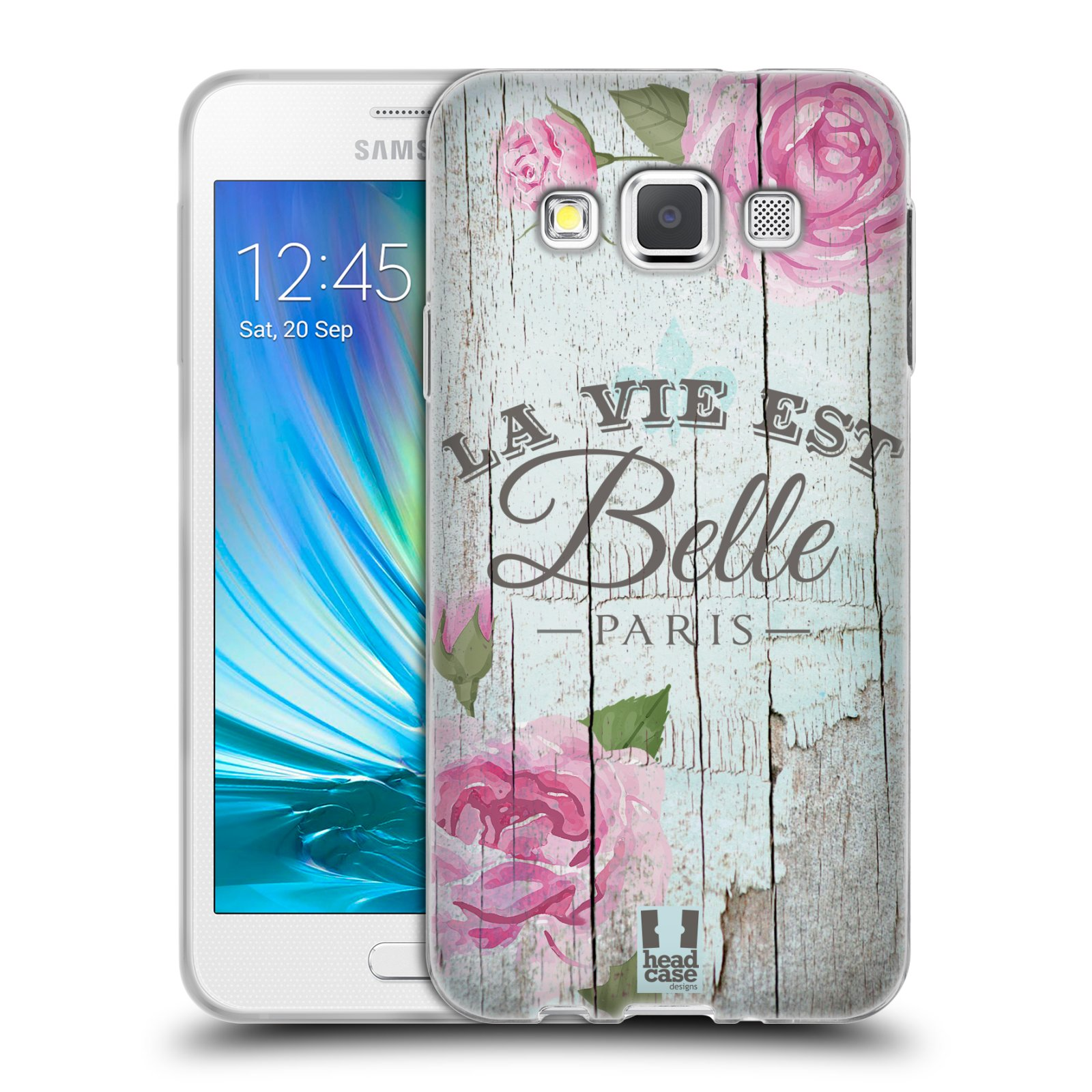 Silikonové pouzdro na mobil Samsung Galaxy A3 HEAD CASE LIFE IN THE COUNTRY BELLE