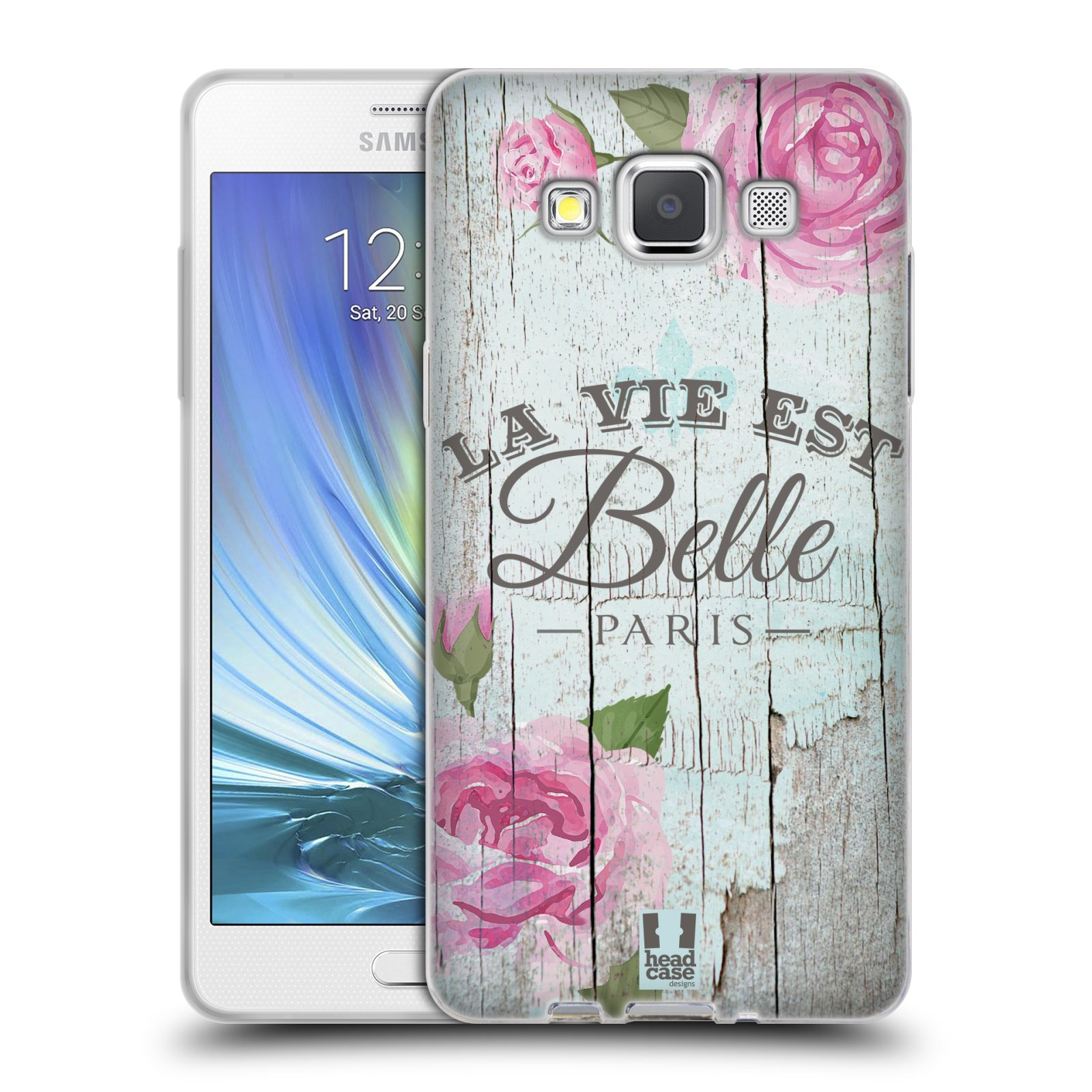 Silikonové pouzdro na mobil Samsung Galaxy A5 HEAD CASE LIFE IN THE COUNTRY BELLE