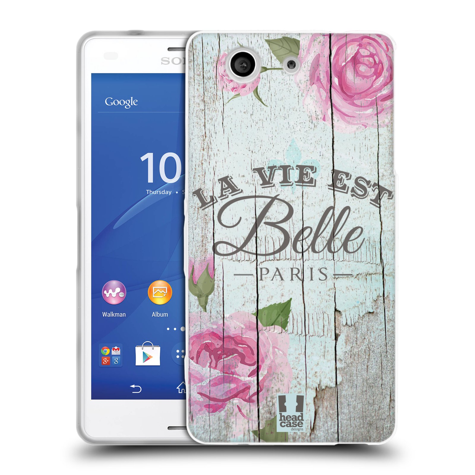Silikonové pouzdro na mobil Sony Xperia Z3 Compact D5803 HEAD CASE LIFE IN THE COUNTRY BELLE