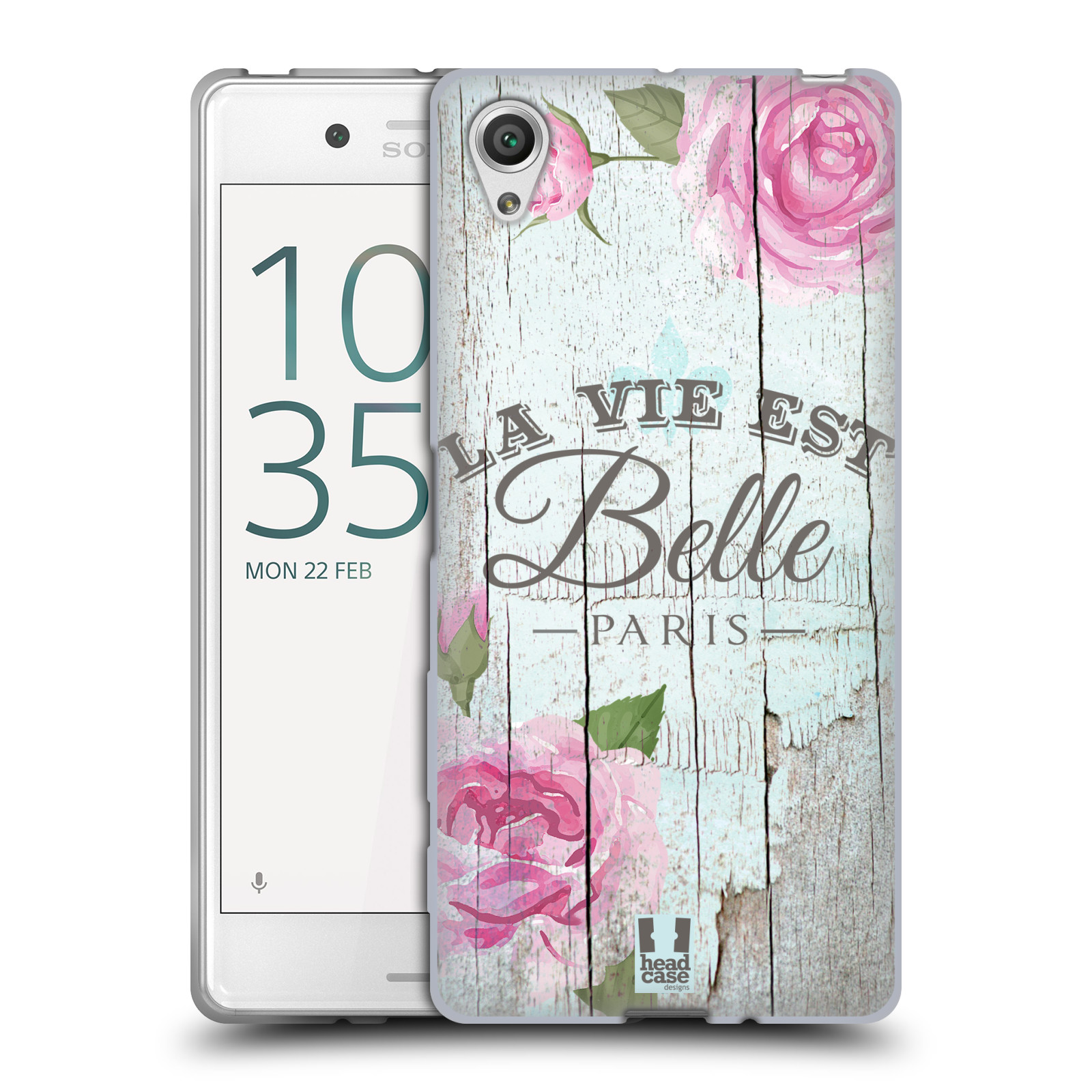 68b9346fb Silikonové pouzdro na mobil Sony Xperia X HEAD CASE LIFE IN THE COUNTRY  BELLE