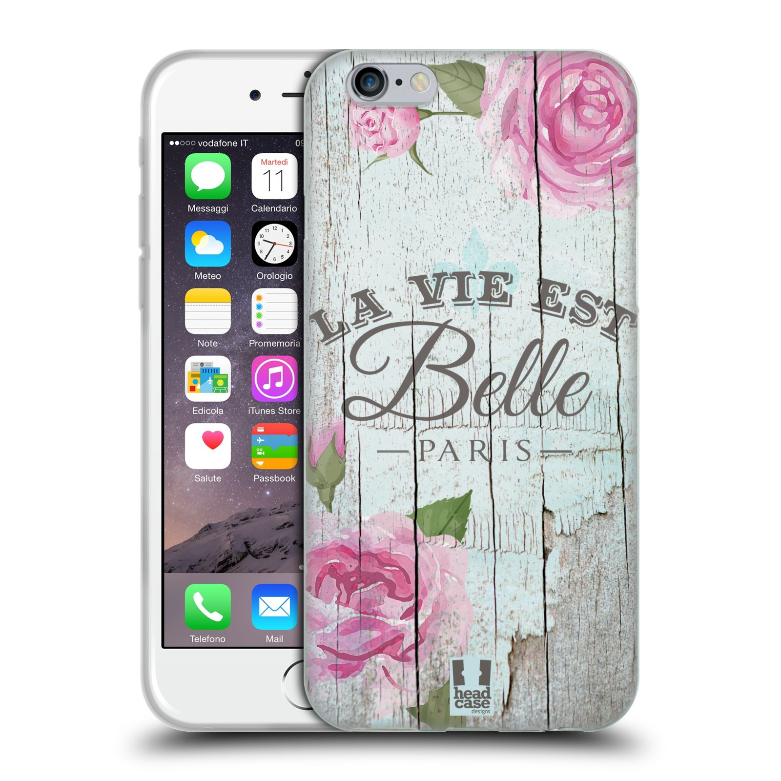 Silikonové pouzdro na mobil Apple iPhone 6 a 6S HEAD CASE LIFE IN THE COUNTRY BELLE