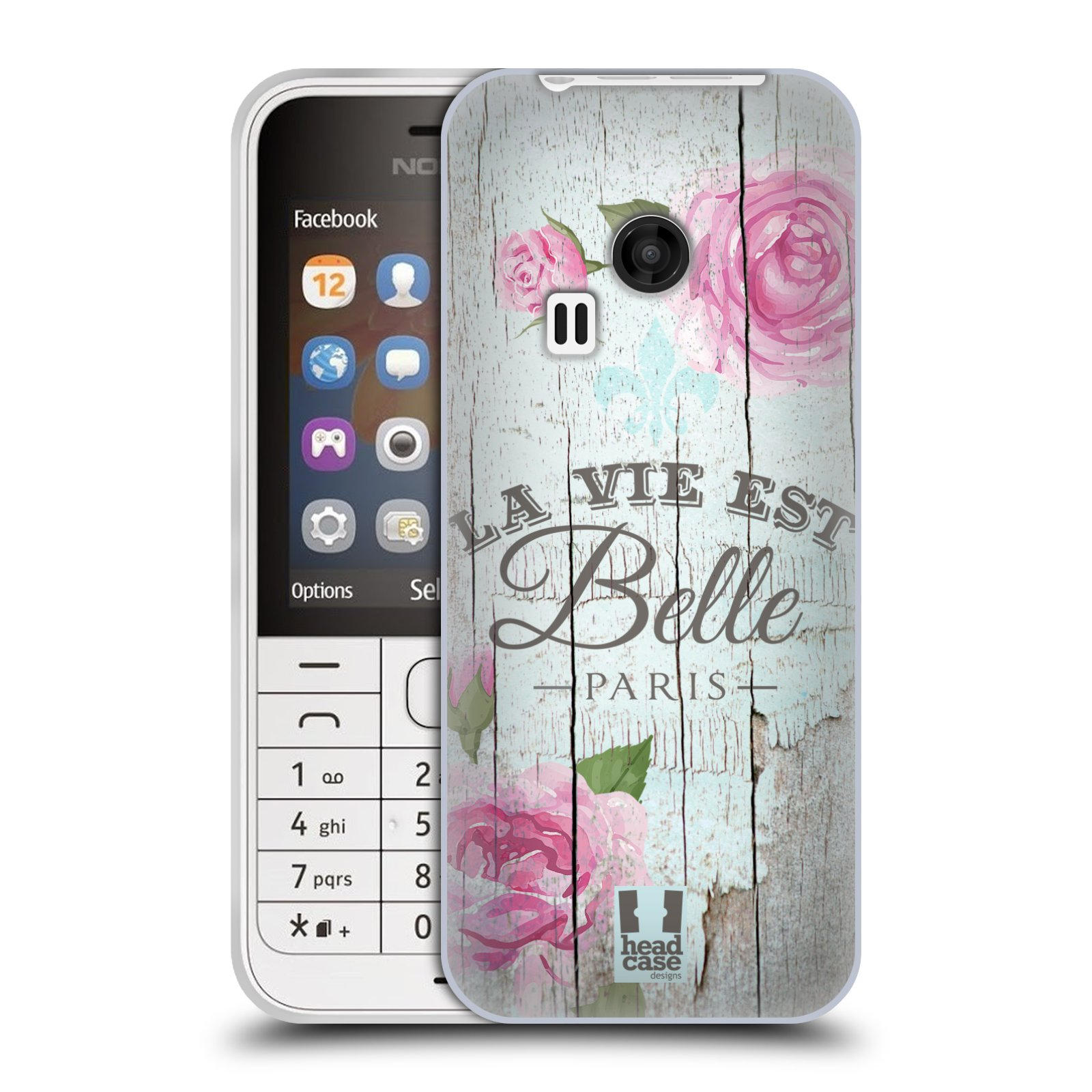 Silikonové pouzdro na mobil Nokia 220 HEAD CASE LIFE IN THE COUNTRY BELLE