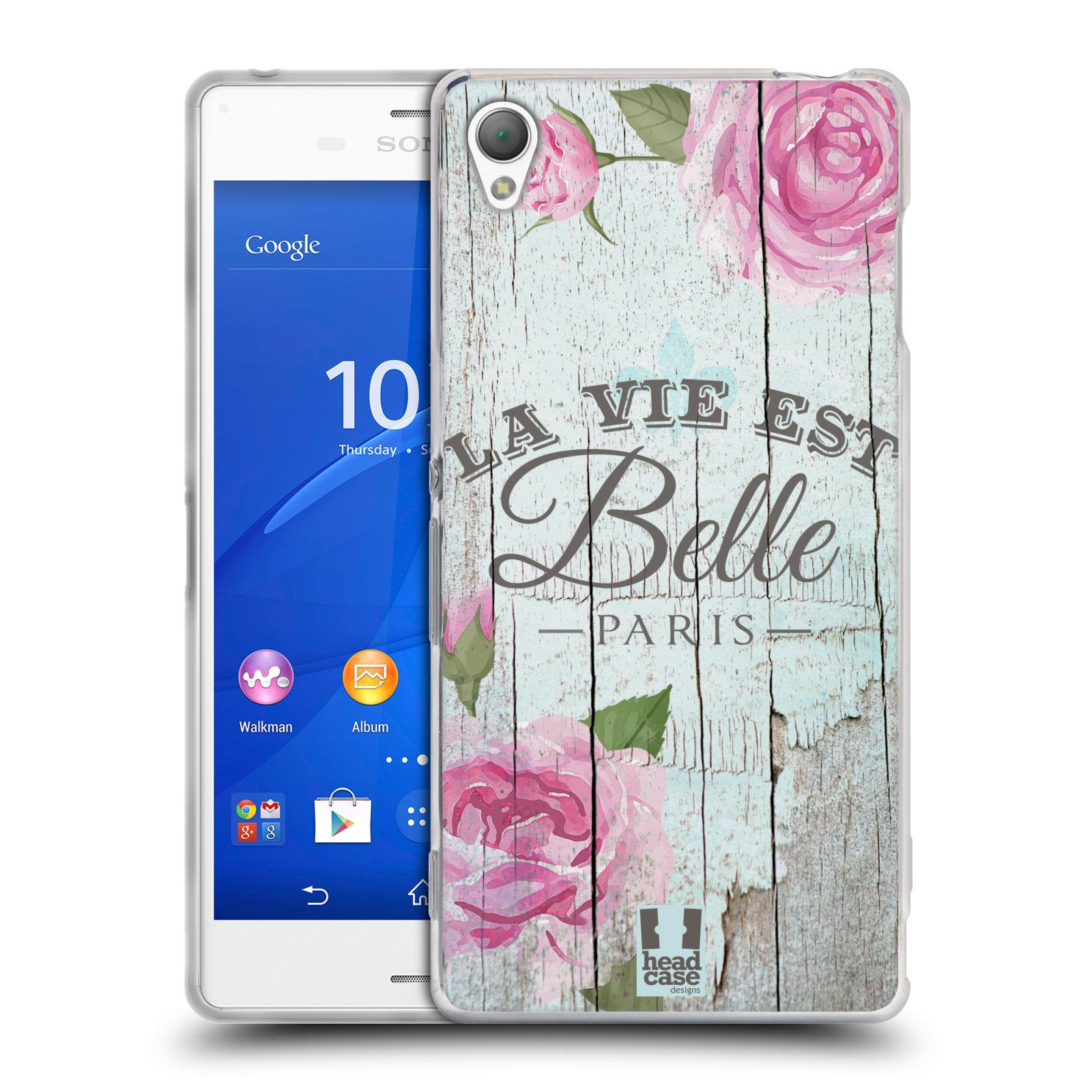 Silikonové pouzdro na mobil Sony Xperia Z3 D6603 HEAD CASE LIFE IN THE COUNTRY BELLE