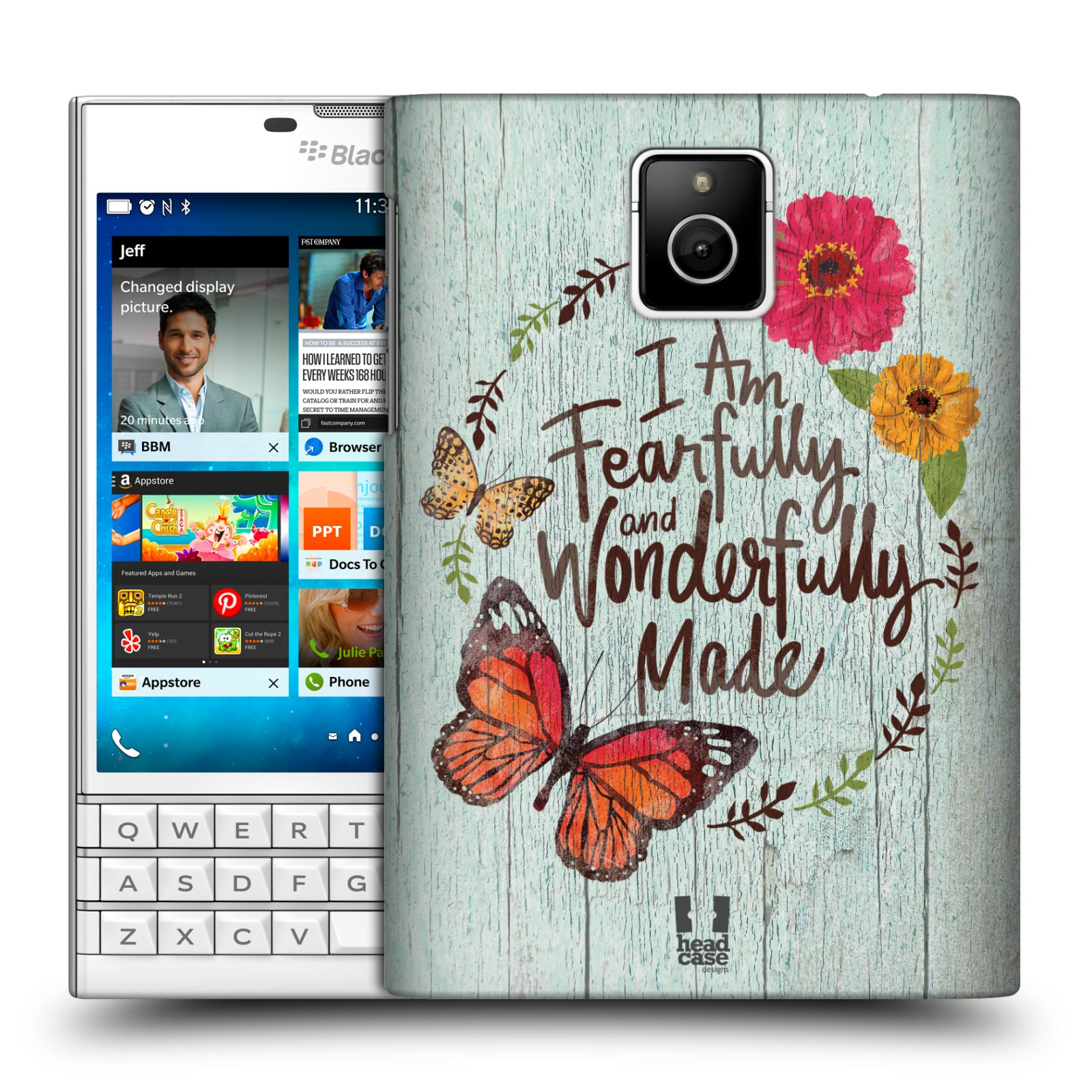 Plastové pouzdro na mobil Blackberry PASSPORT HEAD CASE LIFE IN THE COUNTRY WONDERFULLY (Kryt či obal na mobilní telefon Blackberry PASSPORT)