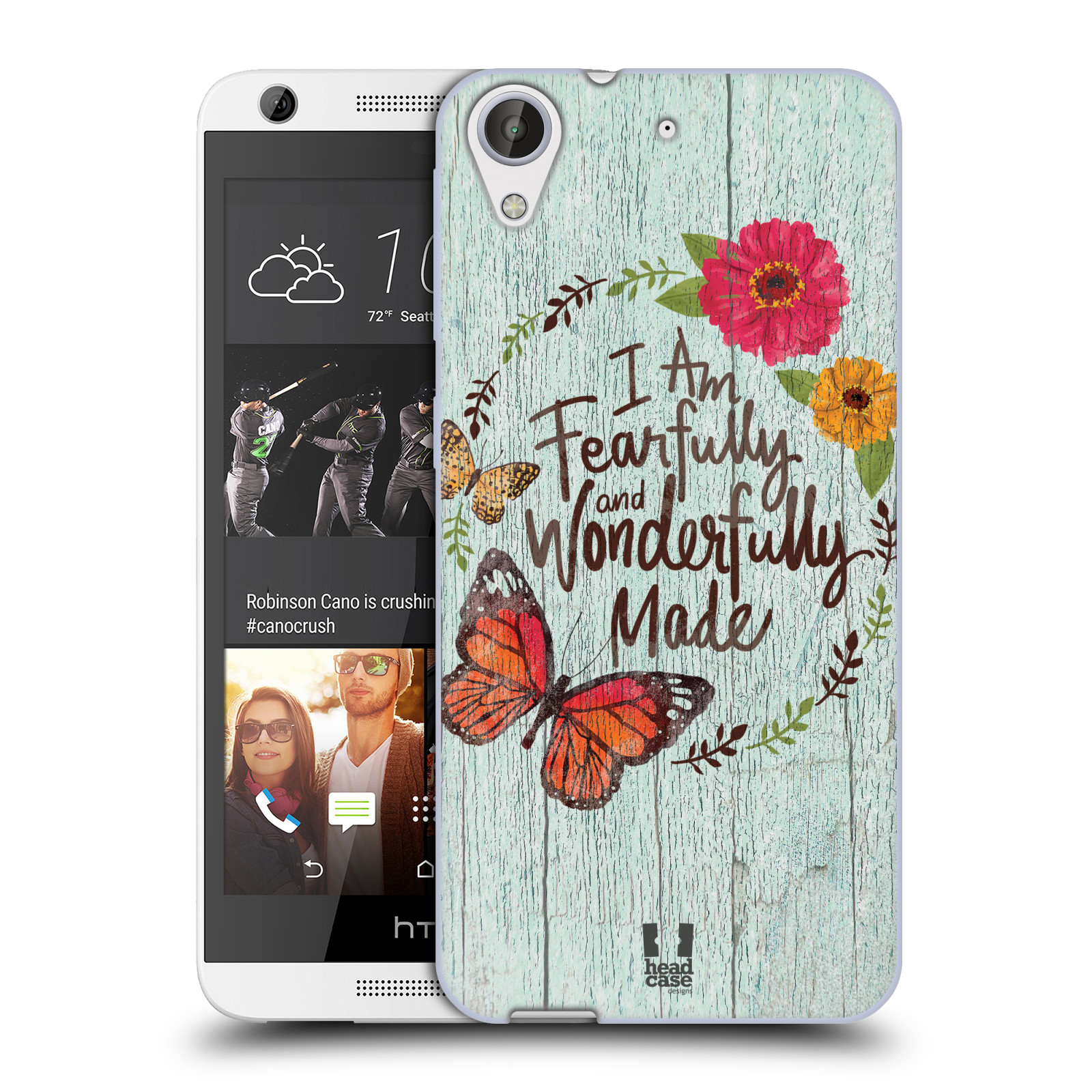 Silikonové pouzdro na mobil HTC Desire 626 / 626G HEAD CASE LIFE IN THE COUNTRY WONDERFULLY