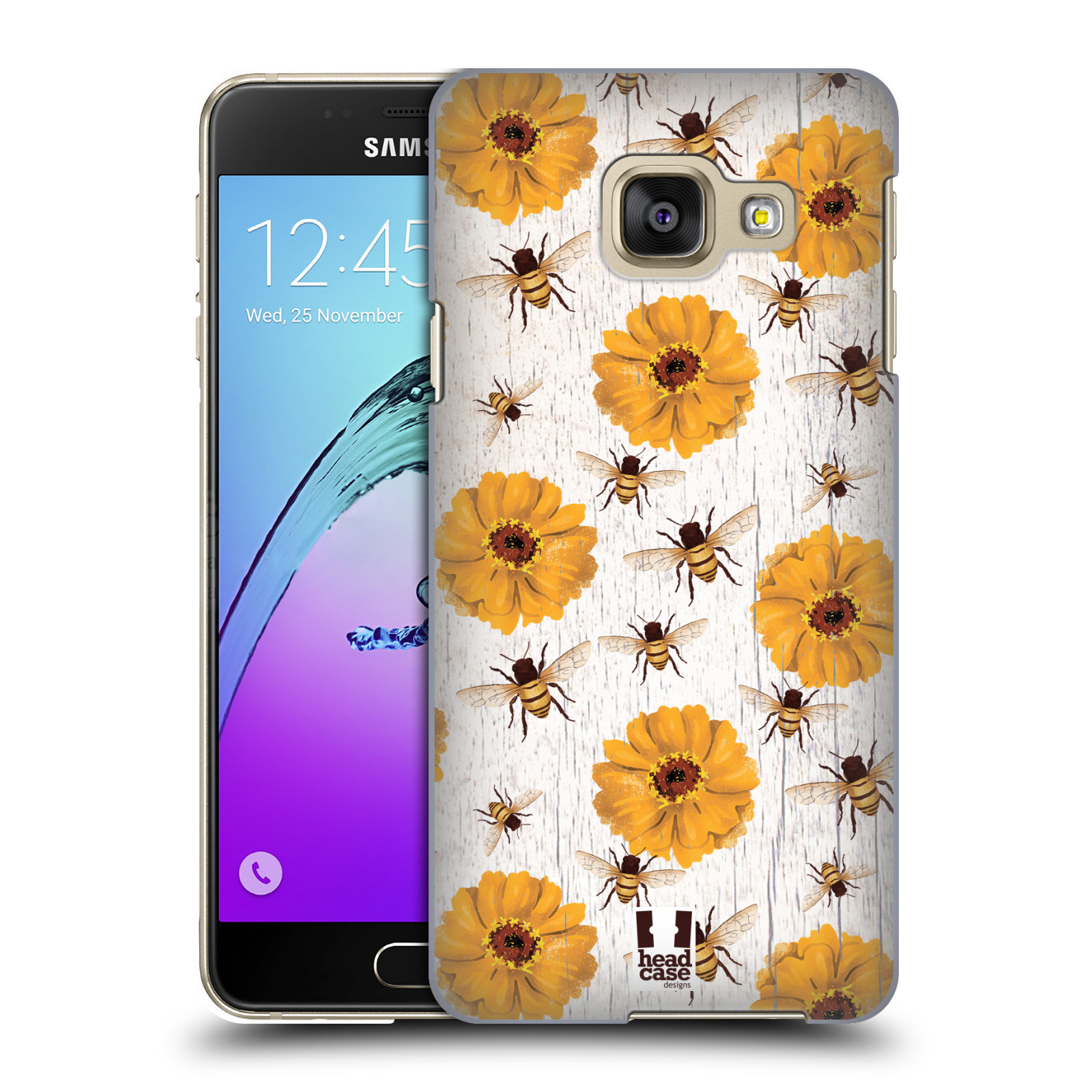 Plastové pouzdro na mobil Samsung Galaxy A3 (2016) HEAD CASE LIFE IN THE COUNTRY ZINNIAS