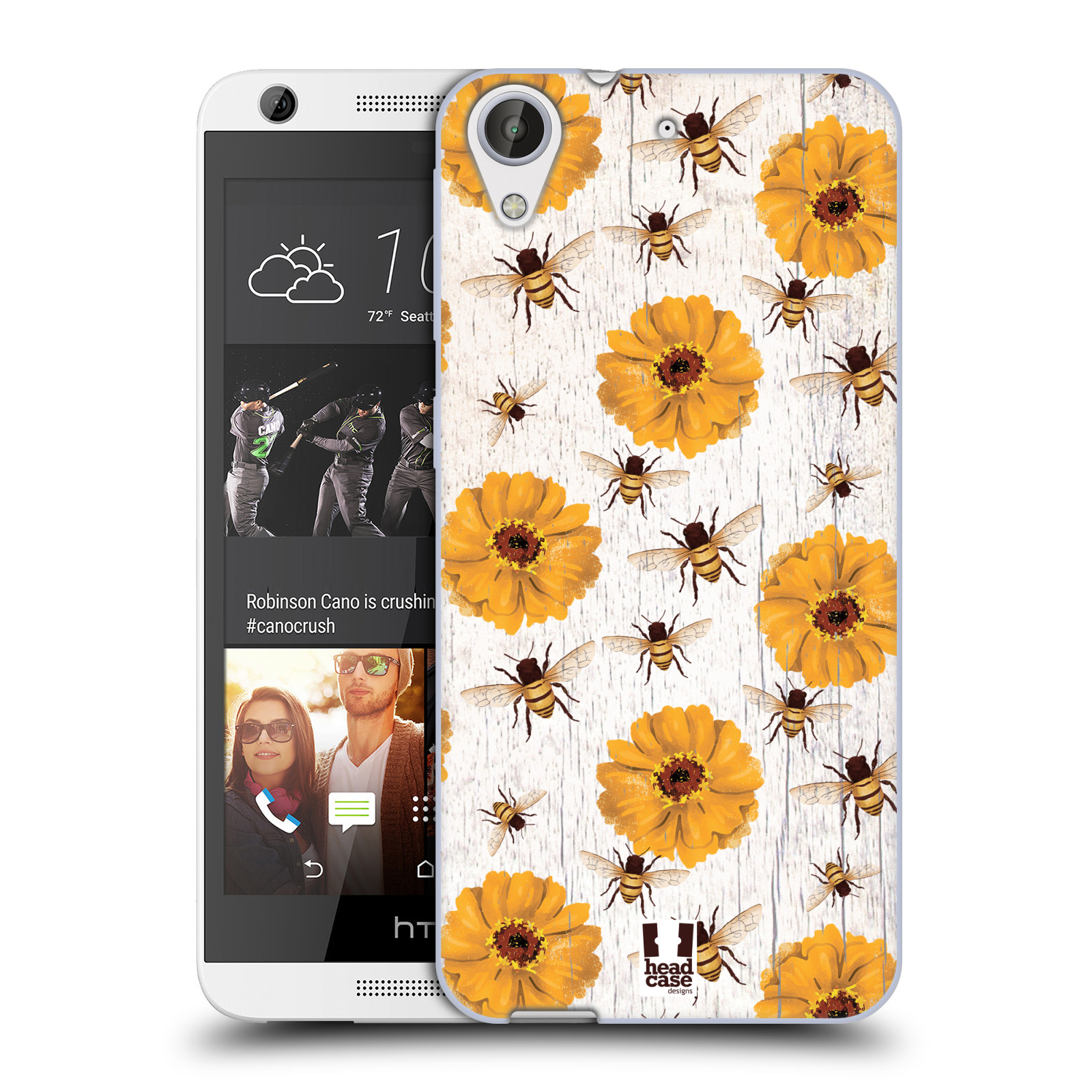 Silikonové pouzdro na mobil HTC Desire 626 / 626G HEAD CASE LIFE IN THE COUNTRY ZINNIAS