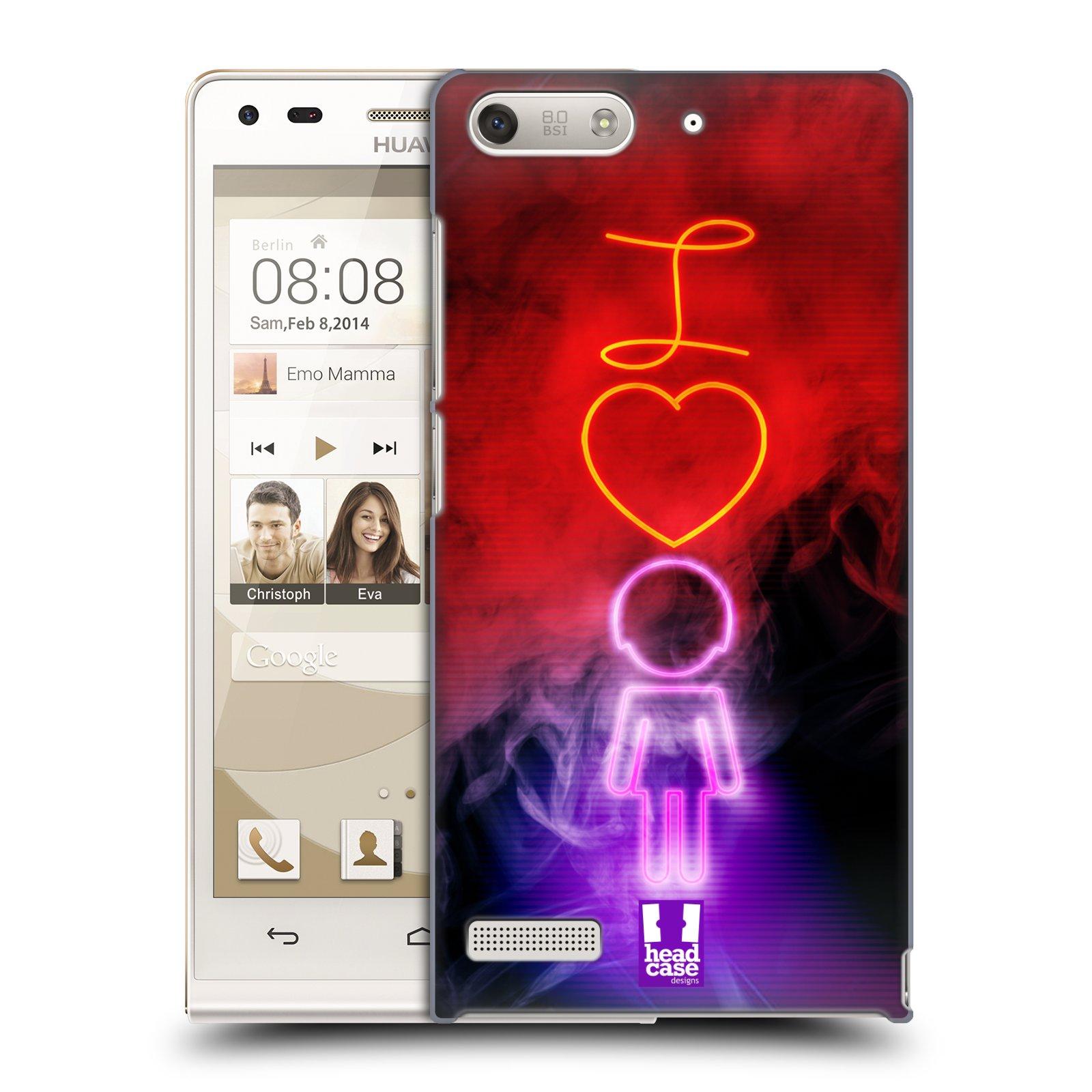 Plastové pouzdro na mobil Huawei Ascend G6 HEAD CASE NEON I LOVE HER (Kryt či obal na mobilní telefon Huawei Ascend G6 bez LTE)