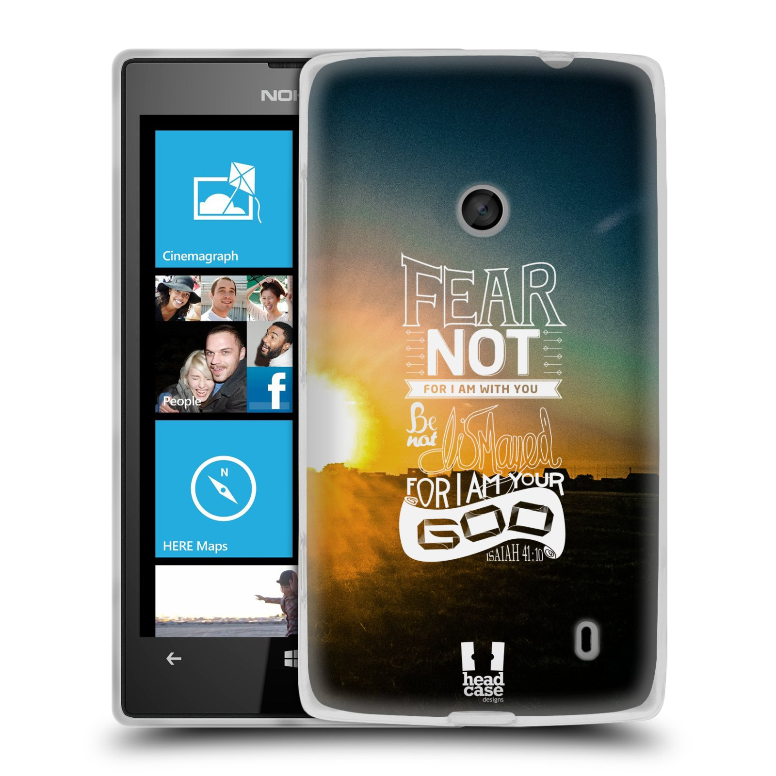 Silikonové pouzdro na mobil Nokia Lumia 520 HEAD CASE FEAR (Silikonový Kryt či obal na mobilní telefon Nokia Lumia 520)