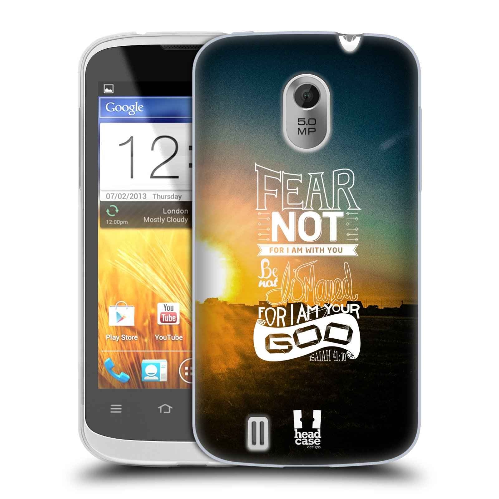 Silikonové pouzdro na mobil ZTE Blade III HEAD CASE FEAR (Silikonový kryt či obal na mobilní telefon ZTE Blade 3)