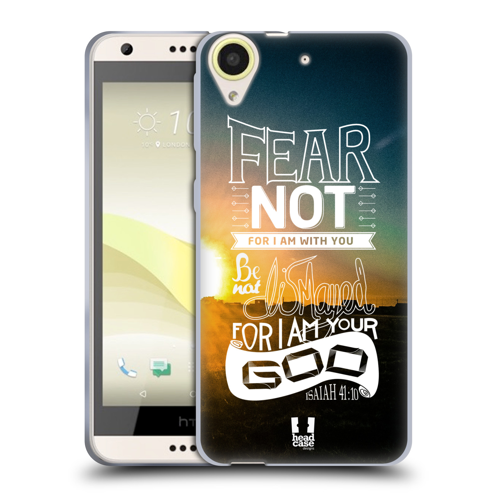 Silikonové pouzdro na mobil HTC Desire 650 HEAD CASE FEAR (Silikonový kryt či obal na mobilní telefon HTC Desire 650)