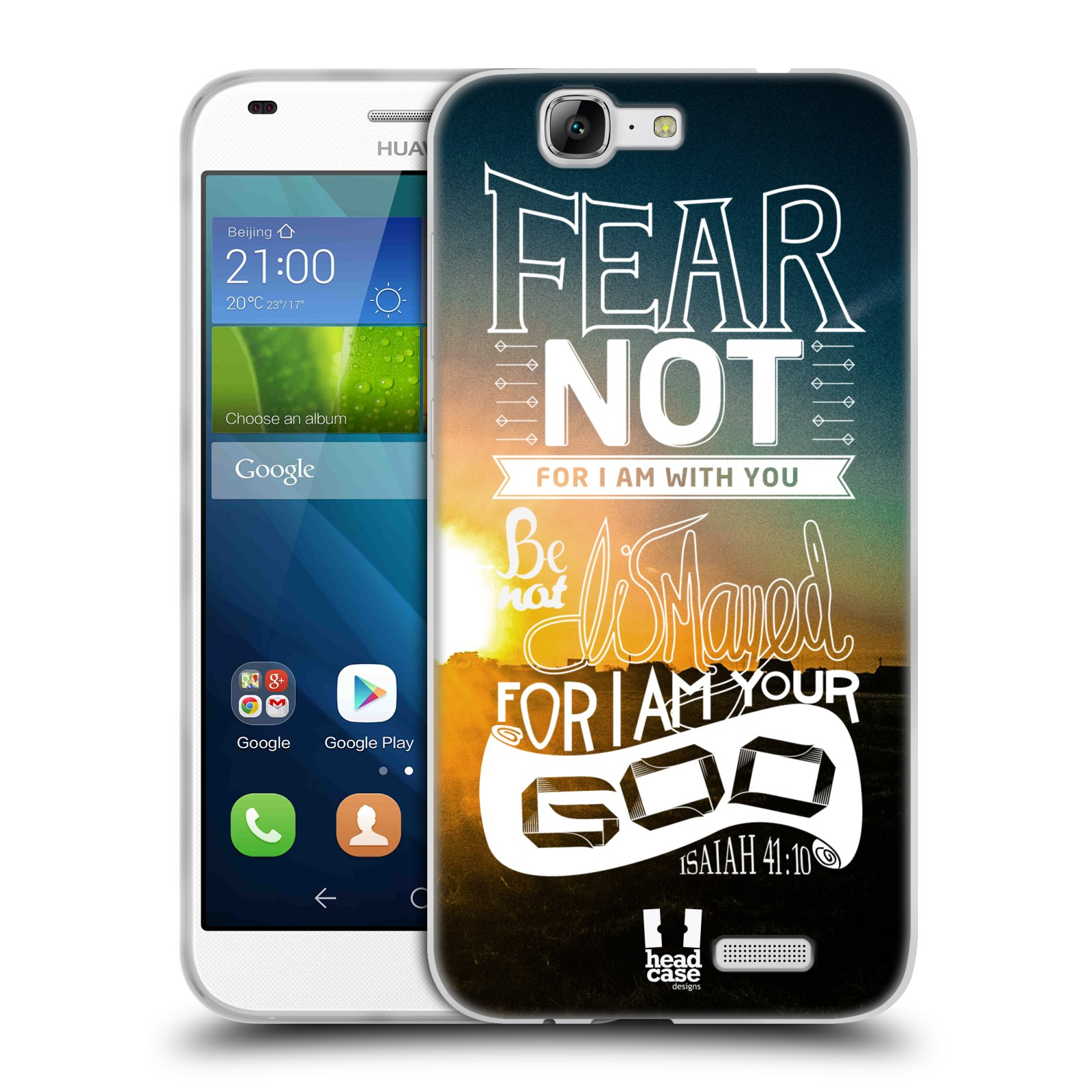 Silikonové pouzdro na mobil Huawei Ascend G7 HEAD CASE FEAR (Silikonový kryt či obal na mobilní telefon Huawei Ascend G7)