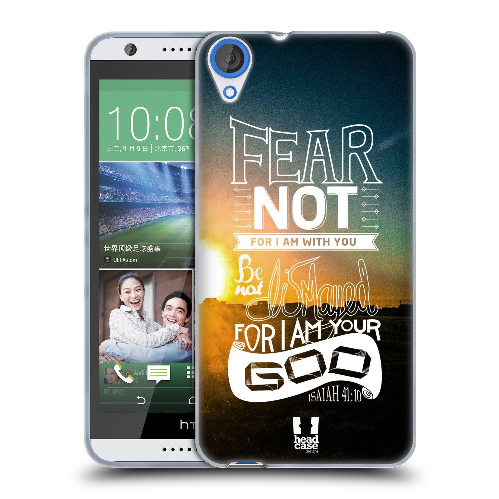 Silikonové pouzdro na mobil HTC Desire 820 HEAD CASE FEAR (Silikonový kryt či obal na mobilní telefon HTC Desire 820)