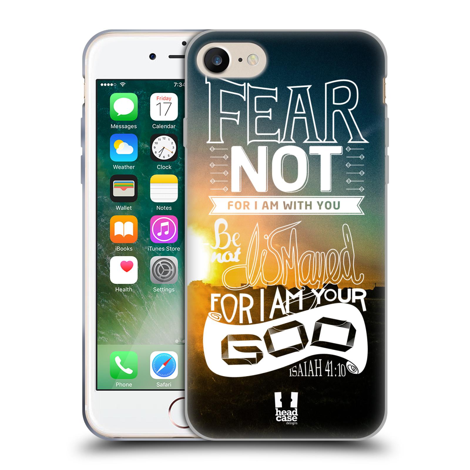 Silikonové pouzdro na mobil Apple iPhone 7 HEAD CASE FEAR (Silikonový kryt  či obal na e4e5a490e43