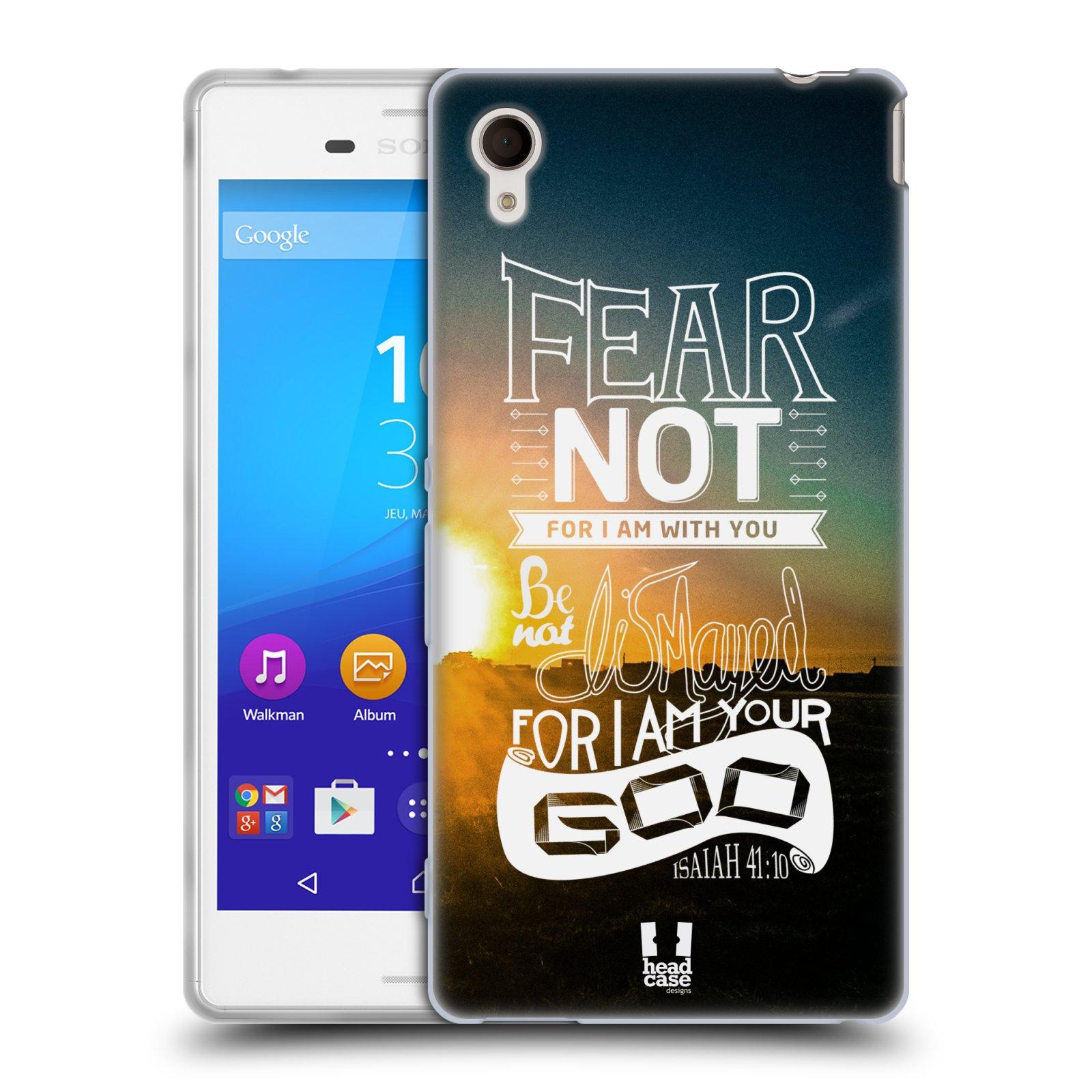Silikonové pouzdro na mobil Sony Xperia M4 Aqua E2303 HEAD CASE FEAR (Silikonový kryt či obal na mobilní telefon Sony Xperia M4 Aqua a M4 Aqua Dual SIM)