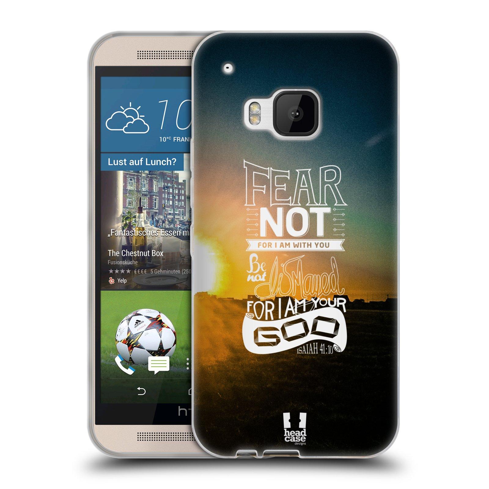 Silikonové pouzdro na mobil HTC ONE M9 HEAD CASE FEAR (Silikonový kryt či obal na mobilní telefon HTC ONE M9)