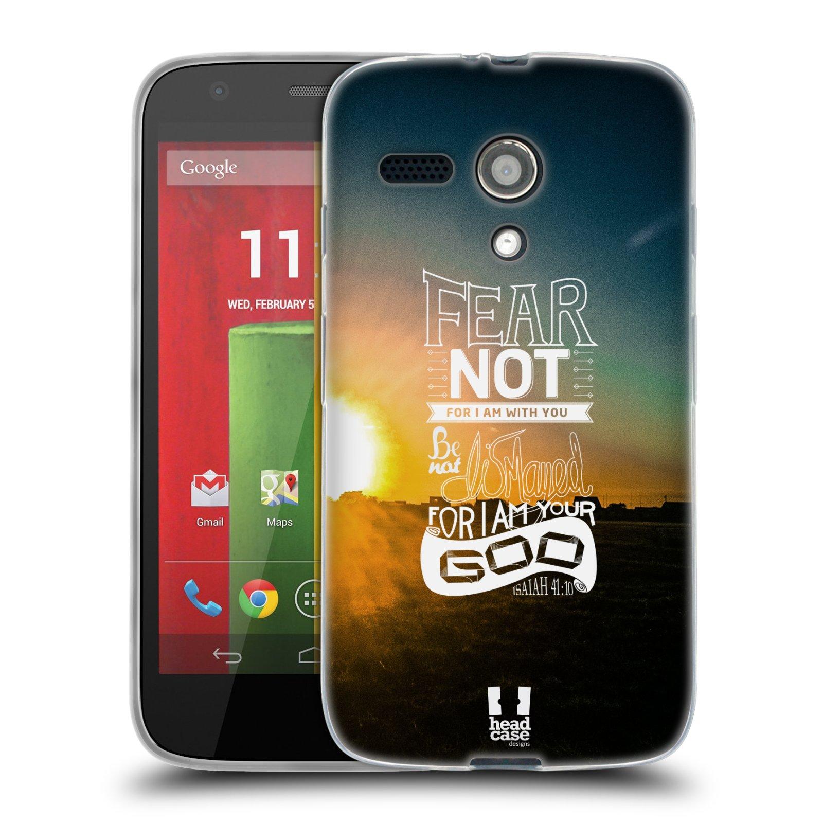 Silikonové pouzdro na mobil Motorola Moto G HEAD CASE FEAR (Silikonový kryt či obal na mobilní telefon Motorola Moto G)